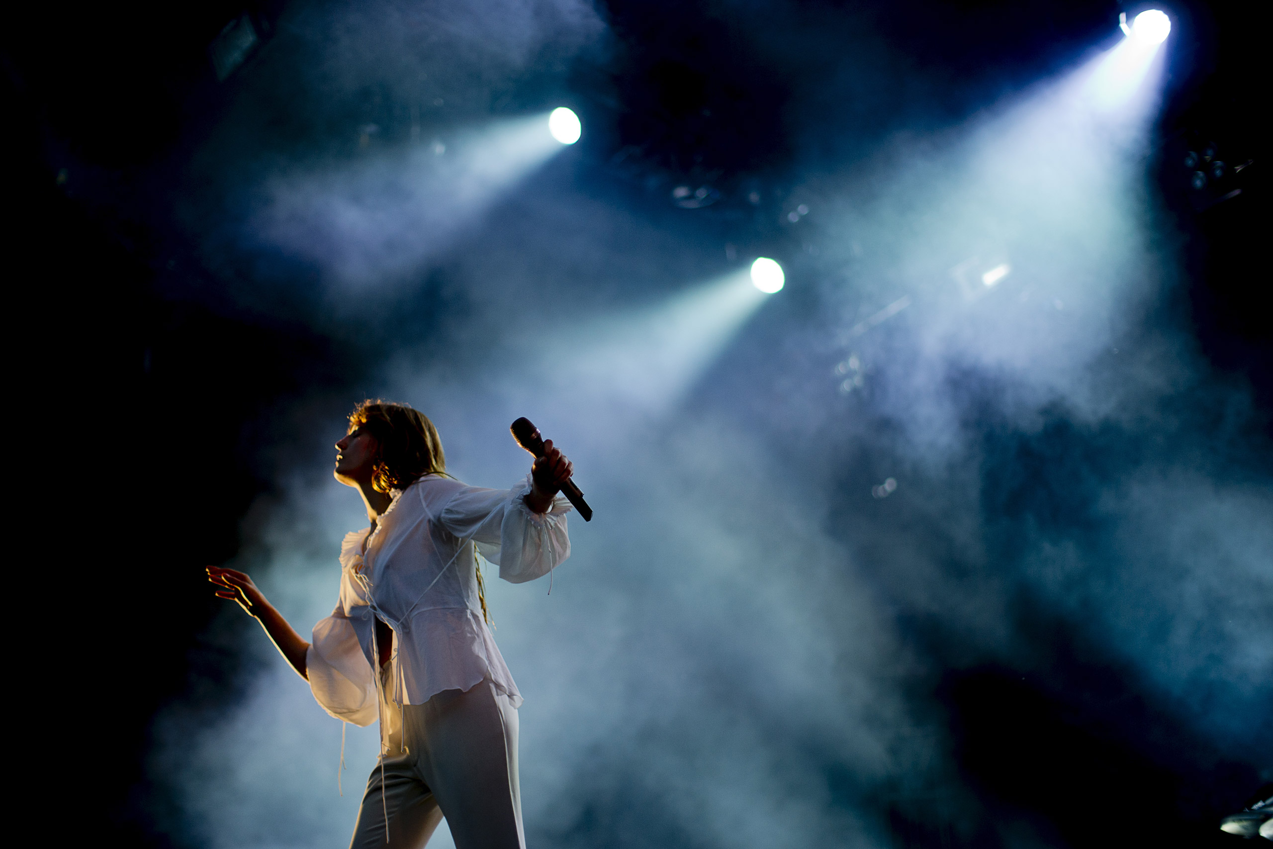 Florence and the Machine performing at Way Out West rock festival in Gothenburg, Sweden, on Aug. 14, 2015.