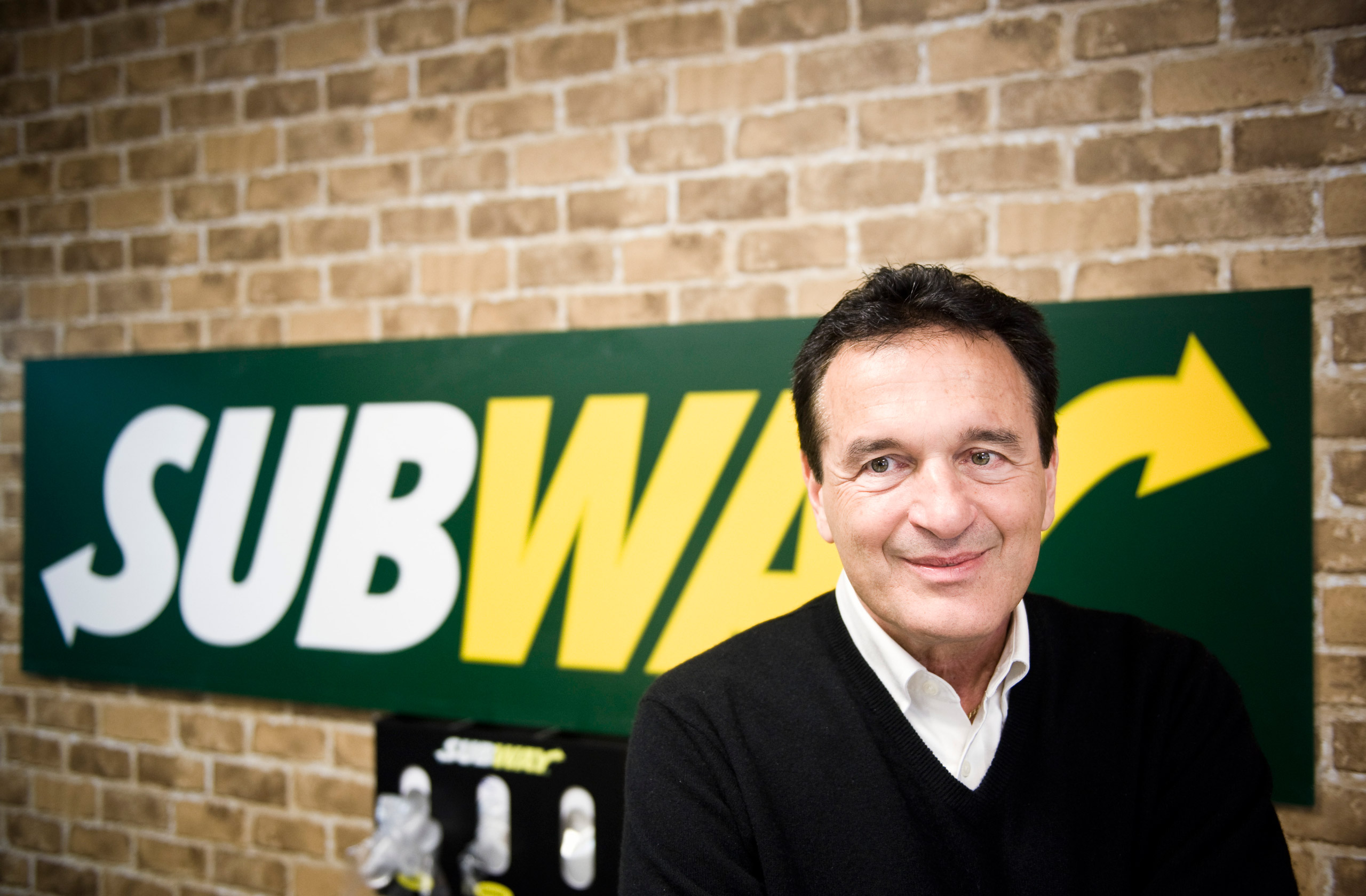 Fred DeLuca, CEO and co-founder of sandwich maker Subway, in a Subway restaurant at  Solna Centrum  in Stockholm on March 10, 2011.