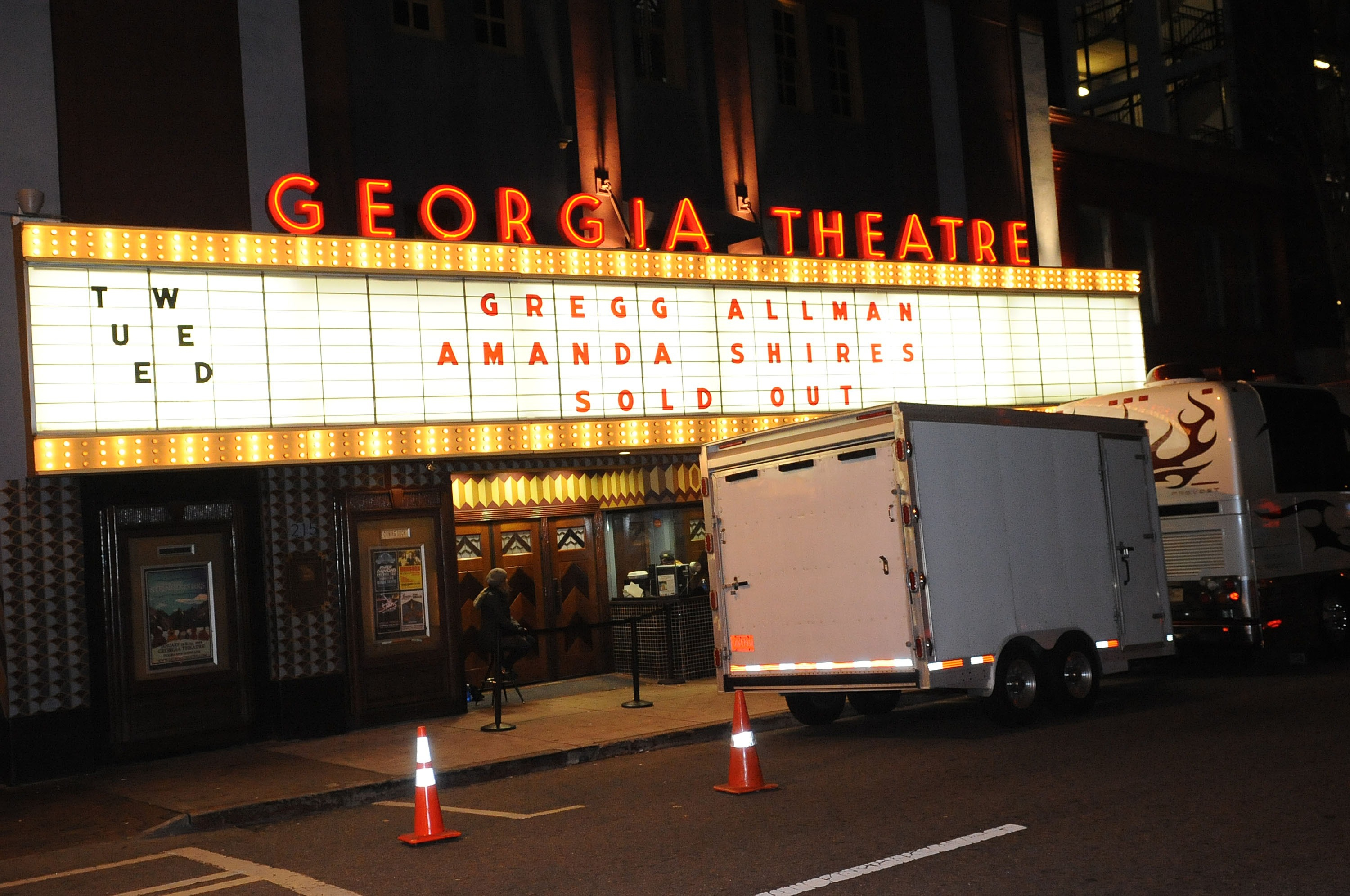 General atmosphere during the Gregg Allman concert at Georgia Theatre in Athens, Ga. on Jan. 6, 2015.