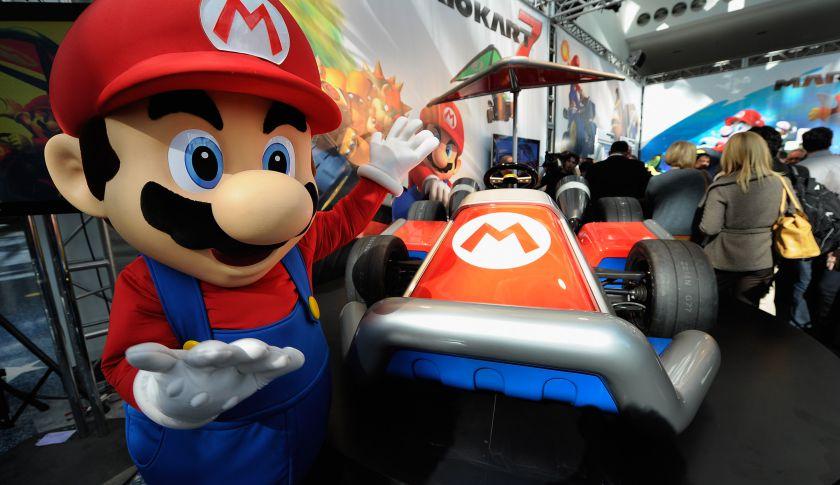 Nintendo game character Mario.