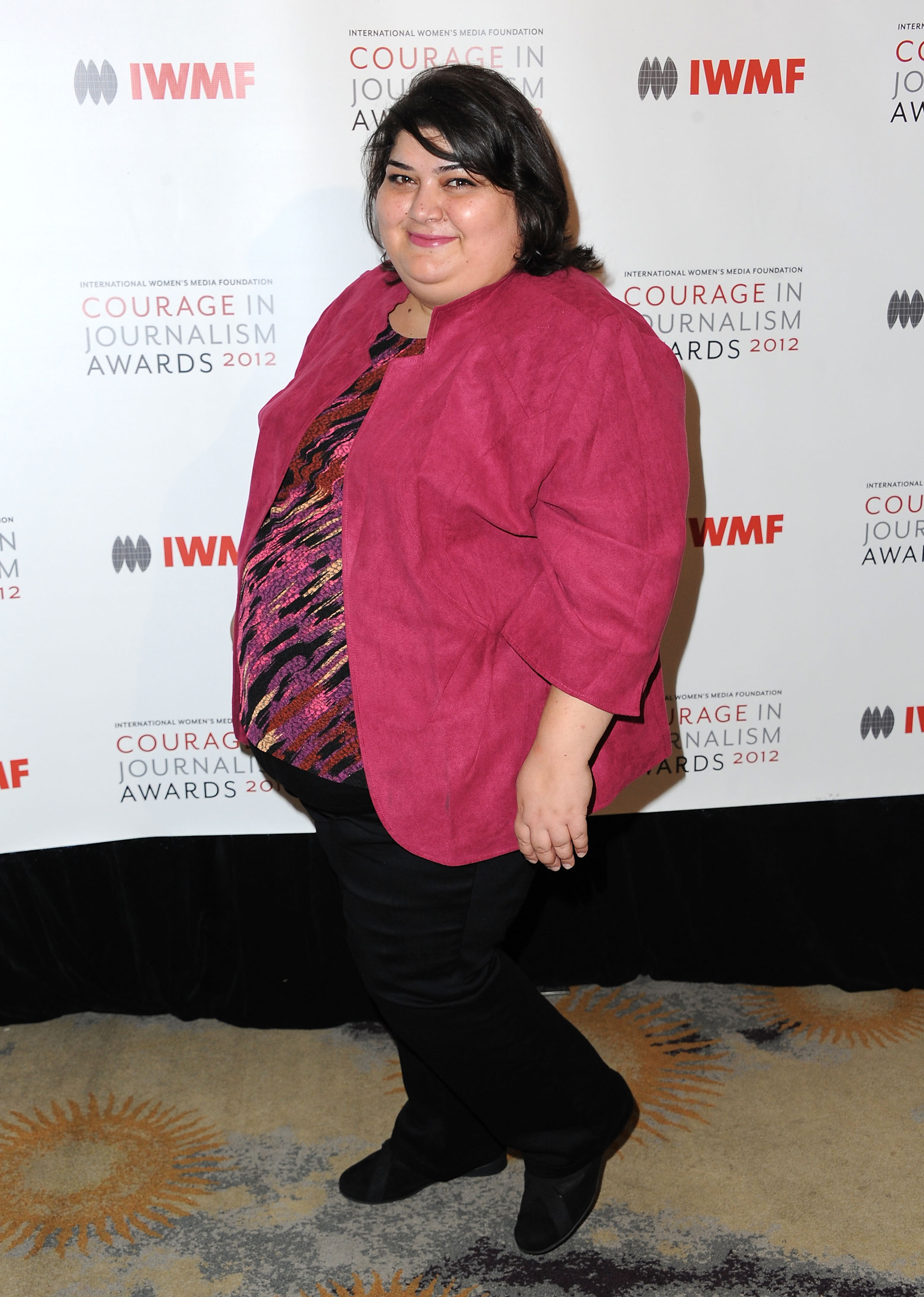 Khadija Ismayilova arrives at the 2012 Courage in Journalism Awards hosted by the International Women's Media Foundation held at the Beverly Hills Hotel on October 29, 2012 in Beverly Hills, California.