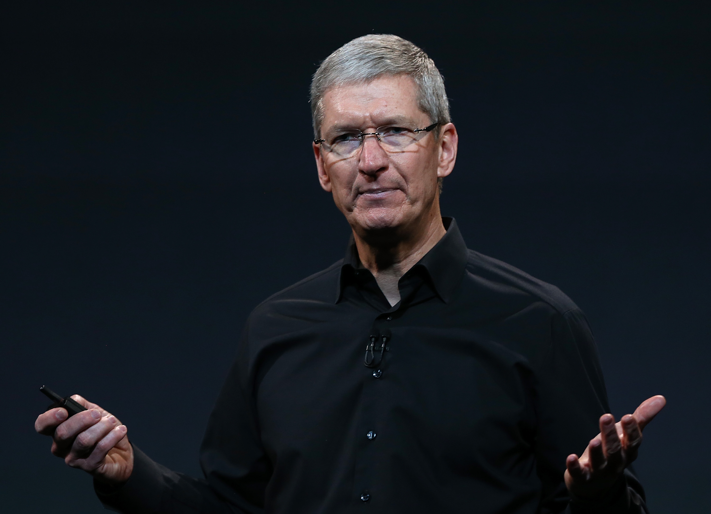 Apple CEO Tim Cook speaks during an Apple announcement at the Yerba Buena Center for the Arts on October 22, 2013 in San Francisco, California.