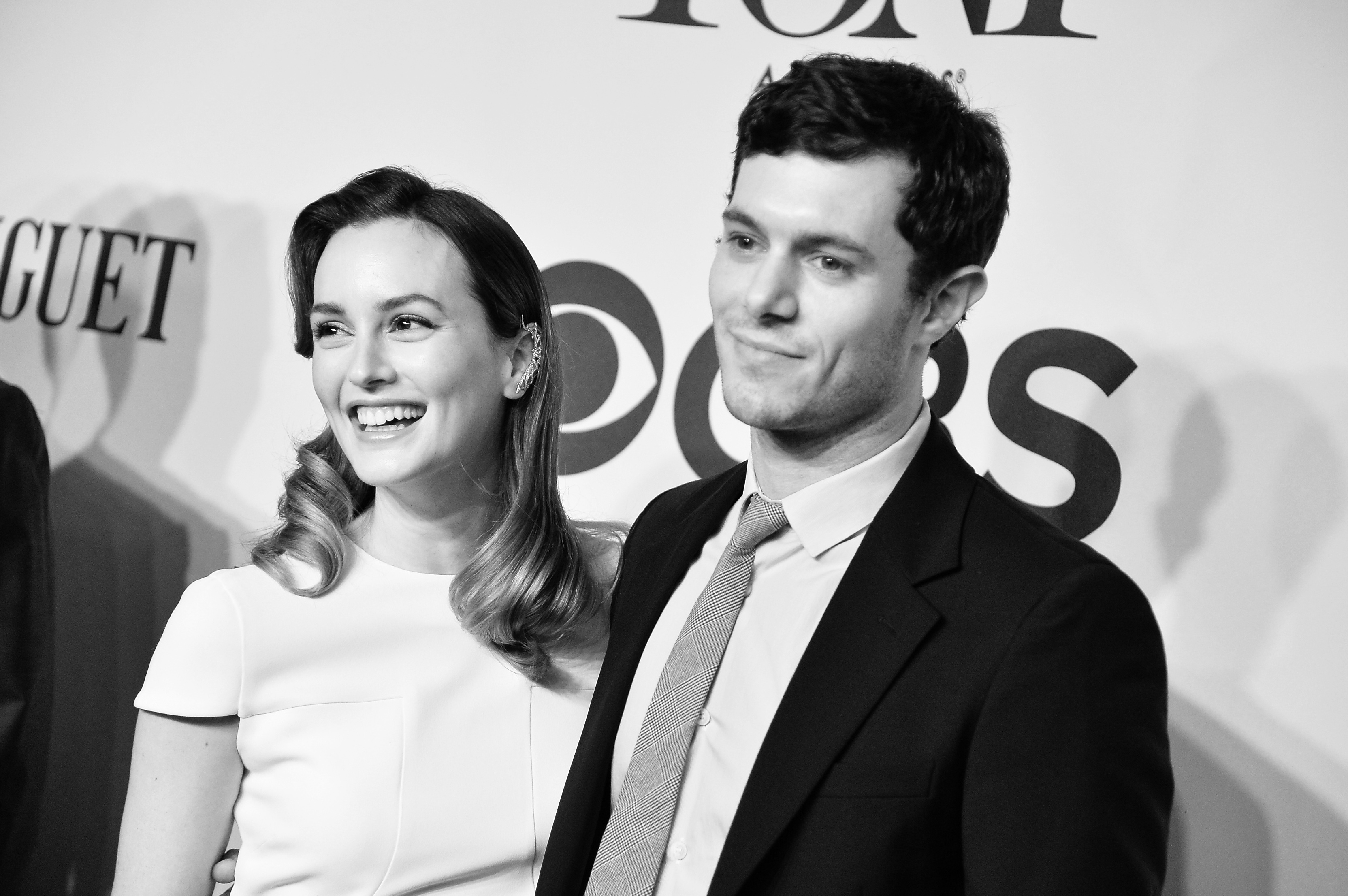 Leighton Meester and Adam Brody in New York City on June 8, 2014.