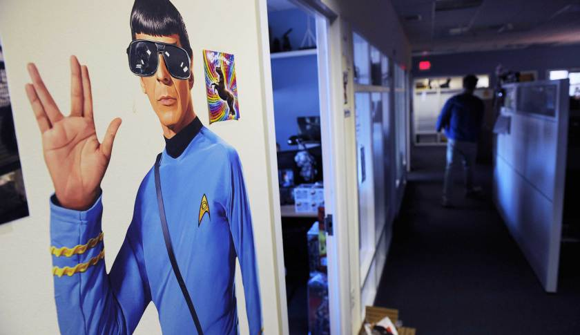 Popular culture references are seen throughout ThinkGeek's headquarters in Fairfax, Va.