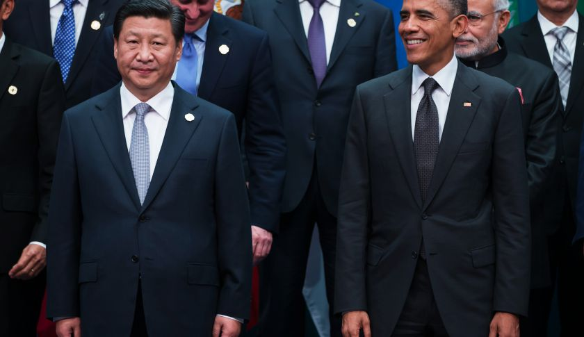Xi Jinping, China's president, left, and U.S. President Barack Obama.