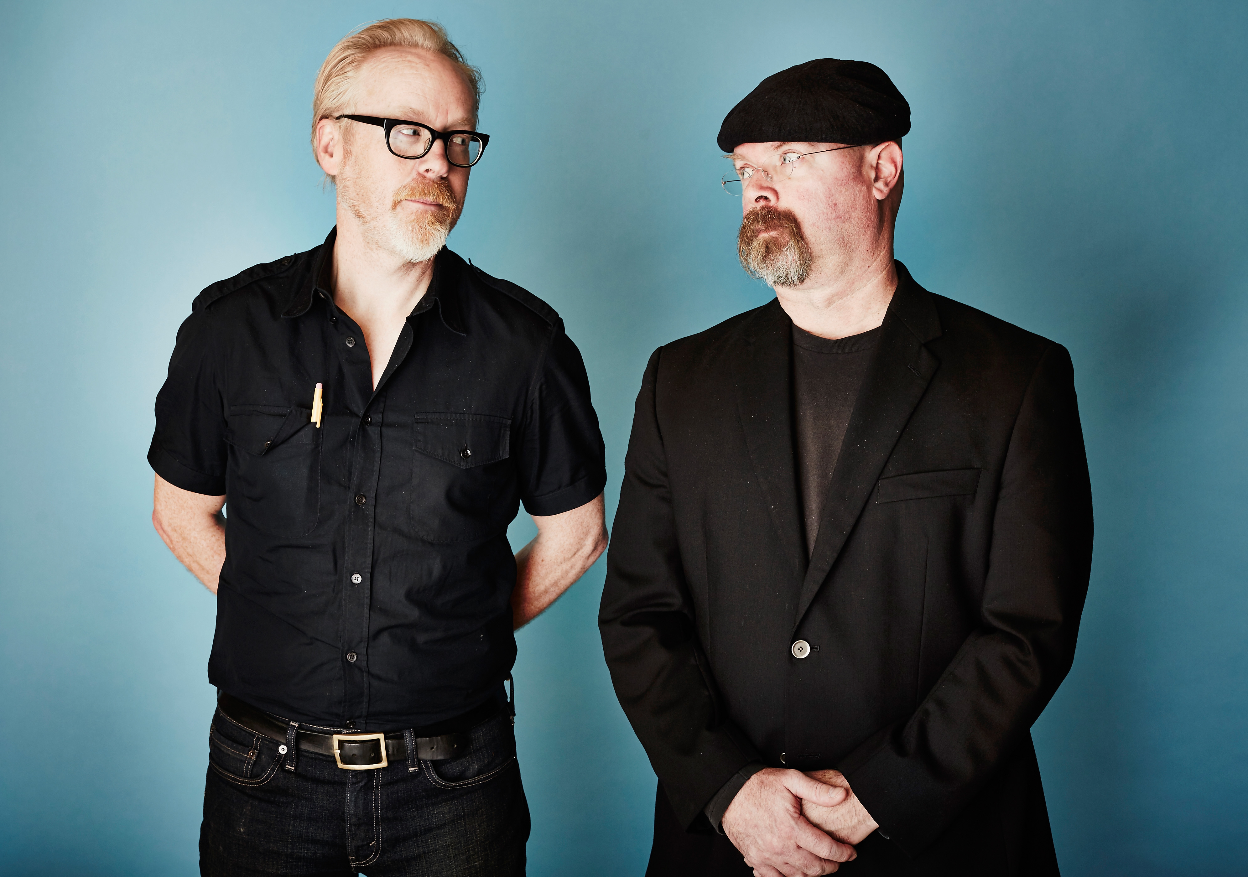 Adam Savage and Jamie Hyneman from 'MythBusters' on Jan. 8, 2015.