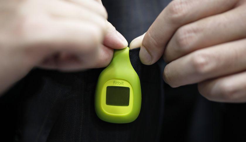 A Fitbit Zip wireless activity tracker.