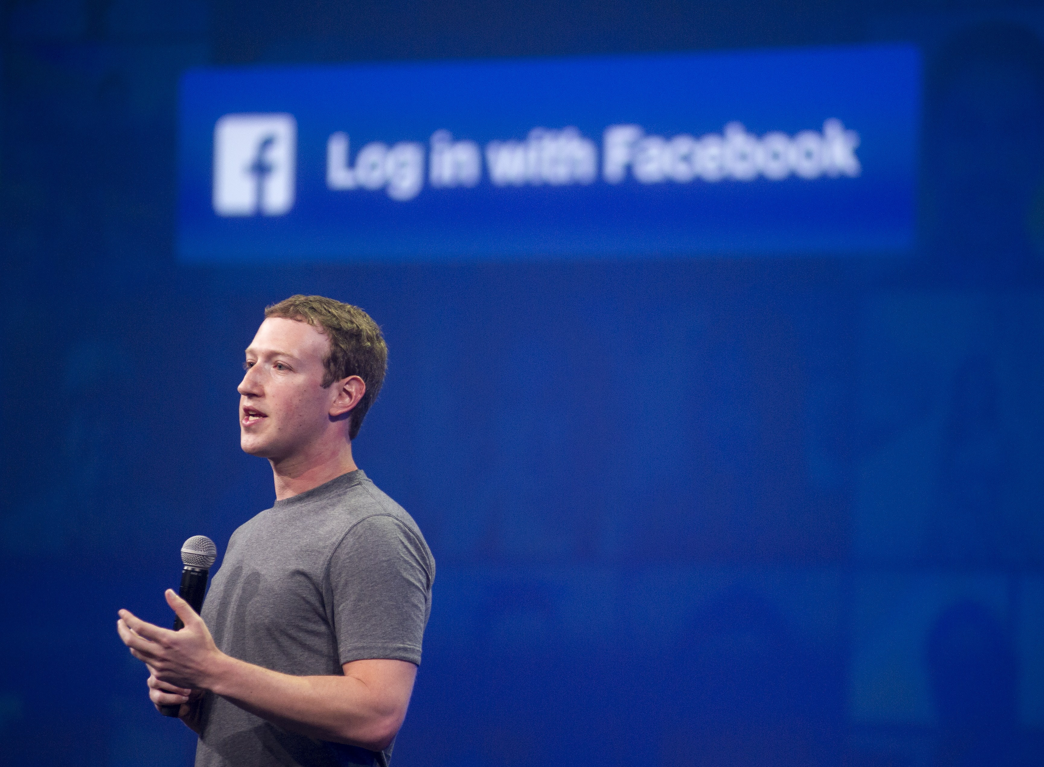 Facebook CEO Mark Zuckerberg speaks at the F8 summit in San Francisco, on March 25, 2015.