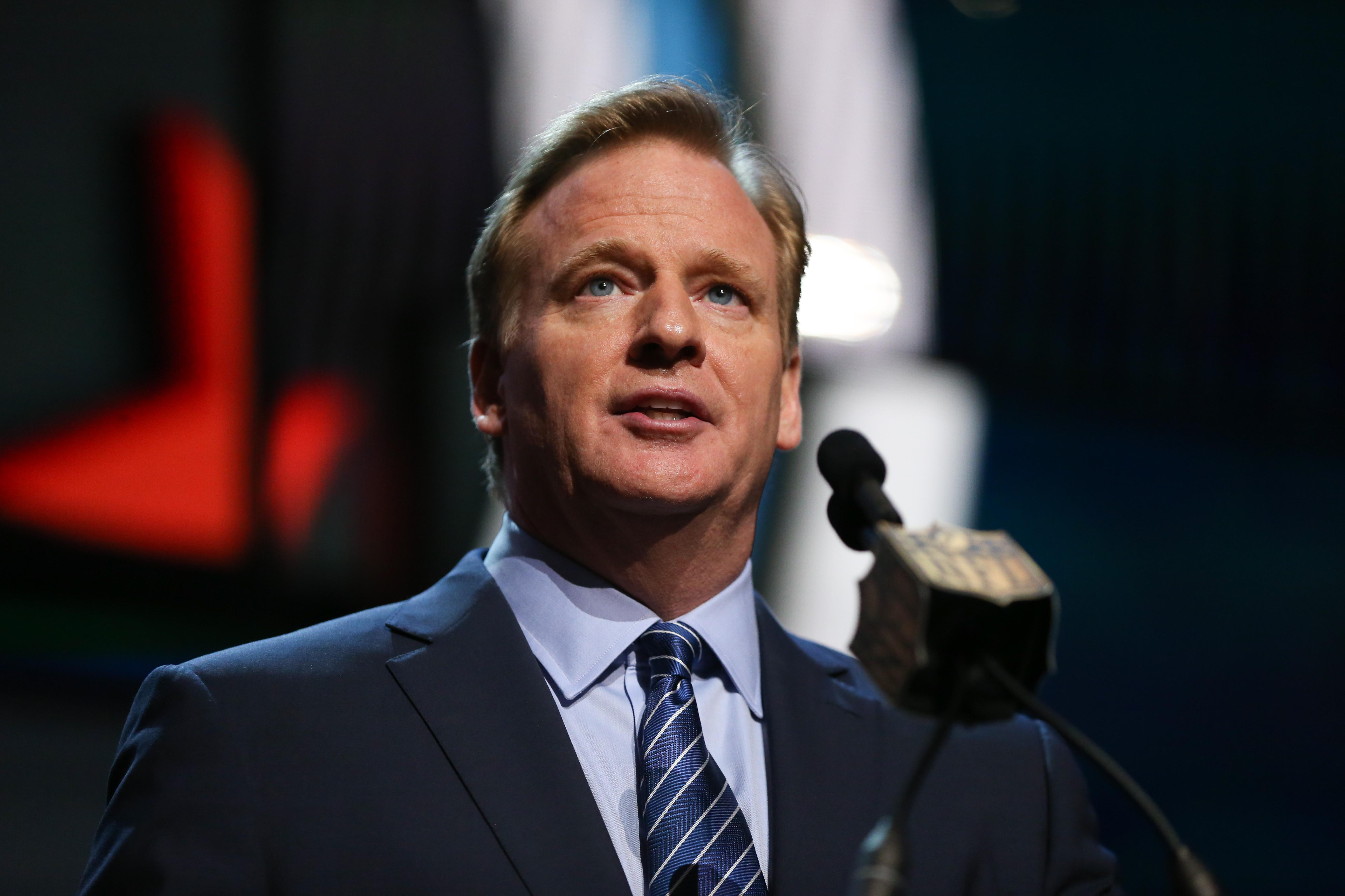 NFL Commissioner Roger Goodell in Chicago on April 30, 2015.