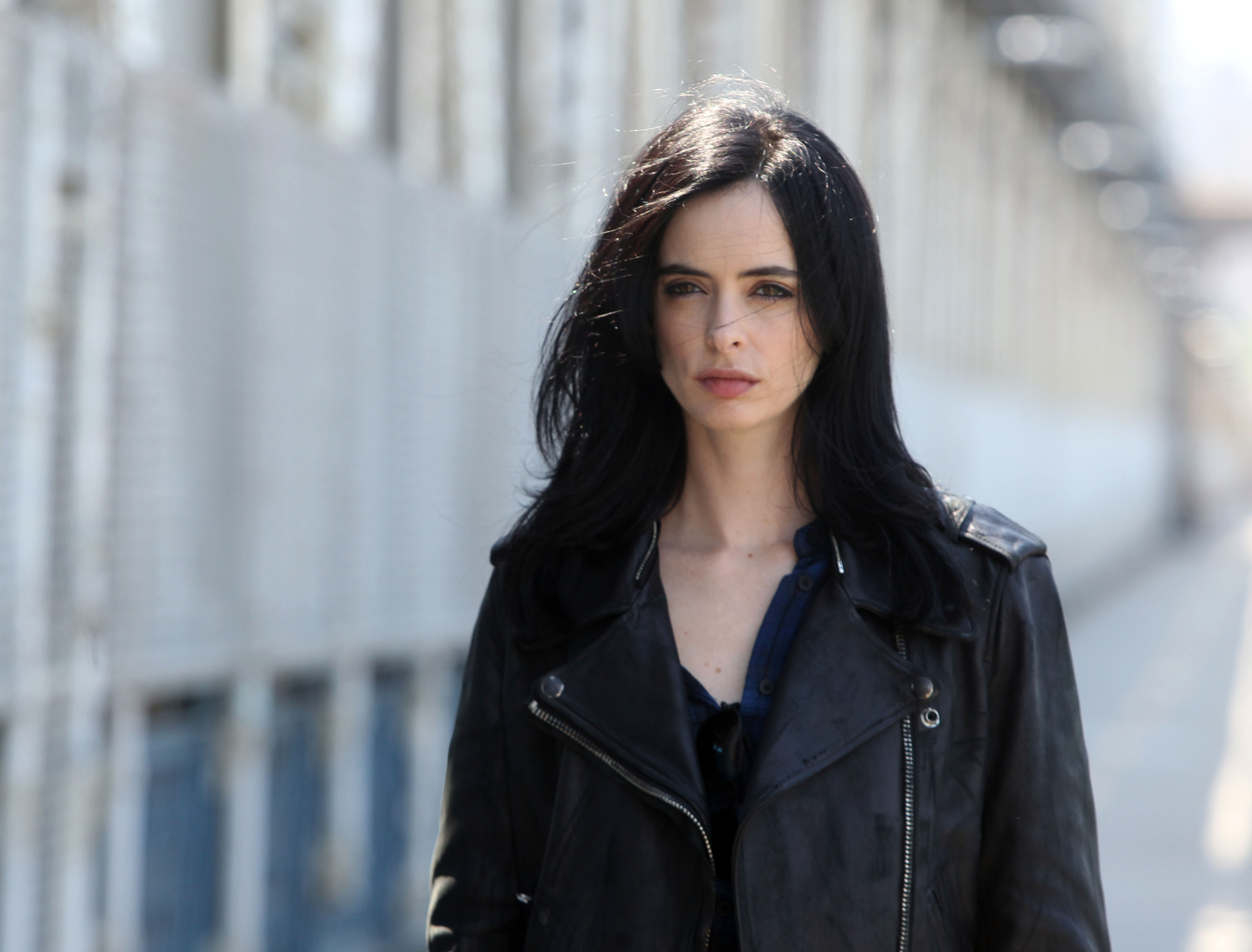 Krysten Ritter filming Marvel Productions/Netflix's  A.K.A. Jessica Jones on June 2, 2015 in New York City.