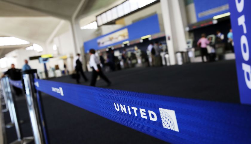 The United Airlines terminal at Newark Liberty Airport in Newark, N.J.