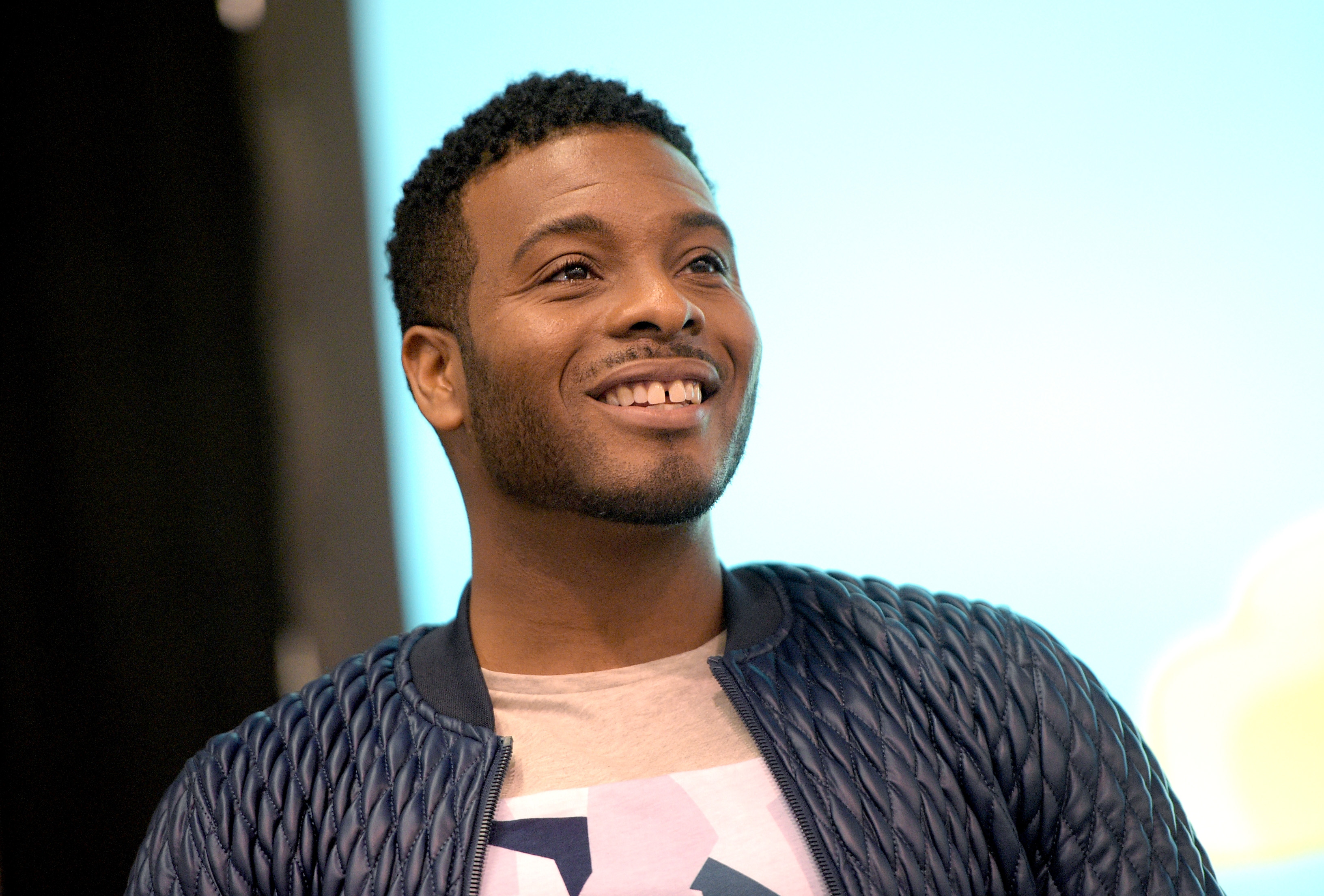 Actor Kel Mitchell, from the cast of Nickelodeon''s Game Shakers, speaks onstage at VidCon on July 25, 2015 in Anaheim, California.