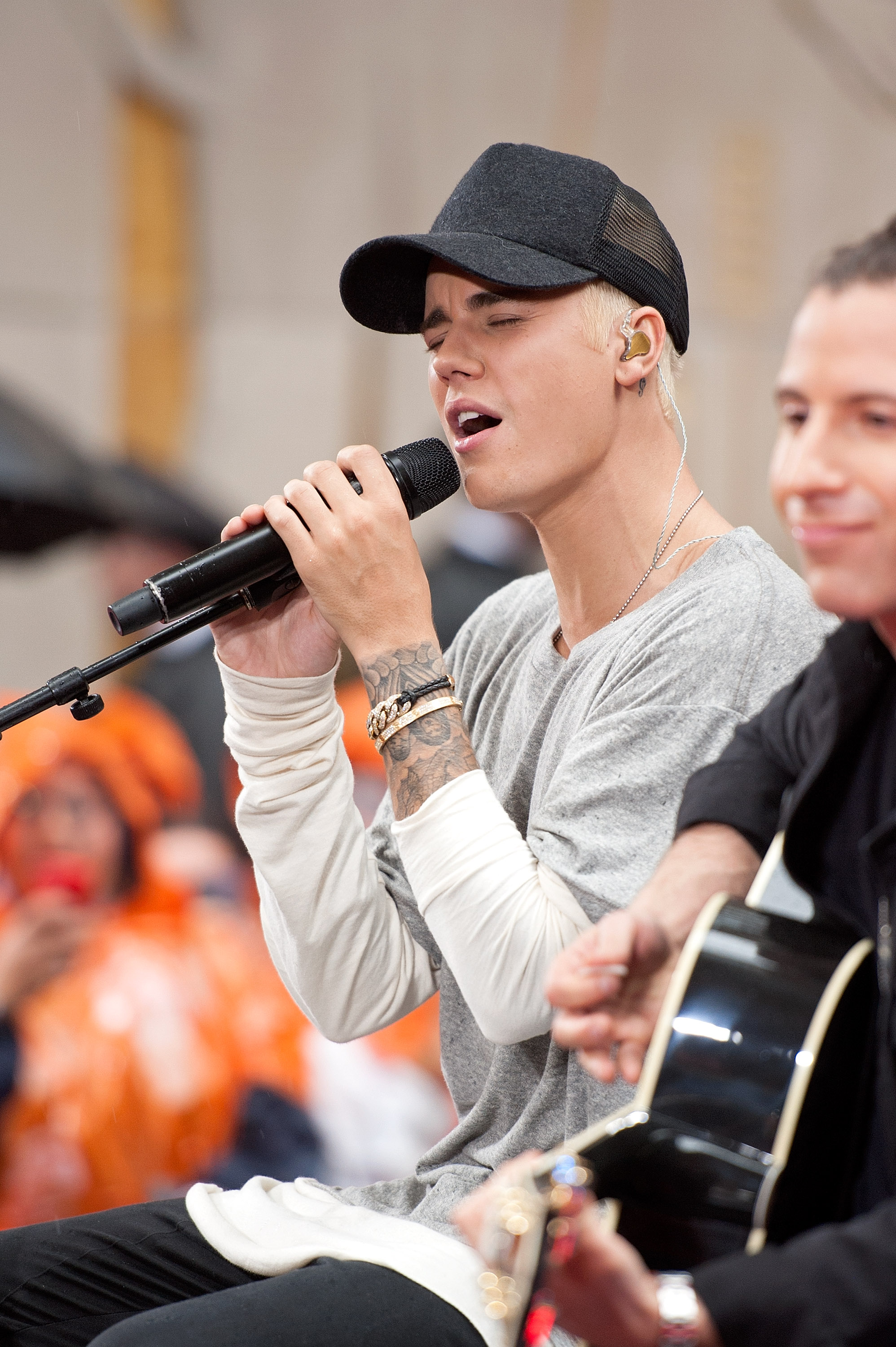 Justin Bieber performs on NBC's  Today  at Rockefeller Plaza on September 10, 2015 in New York City.
