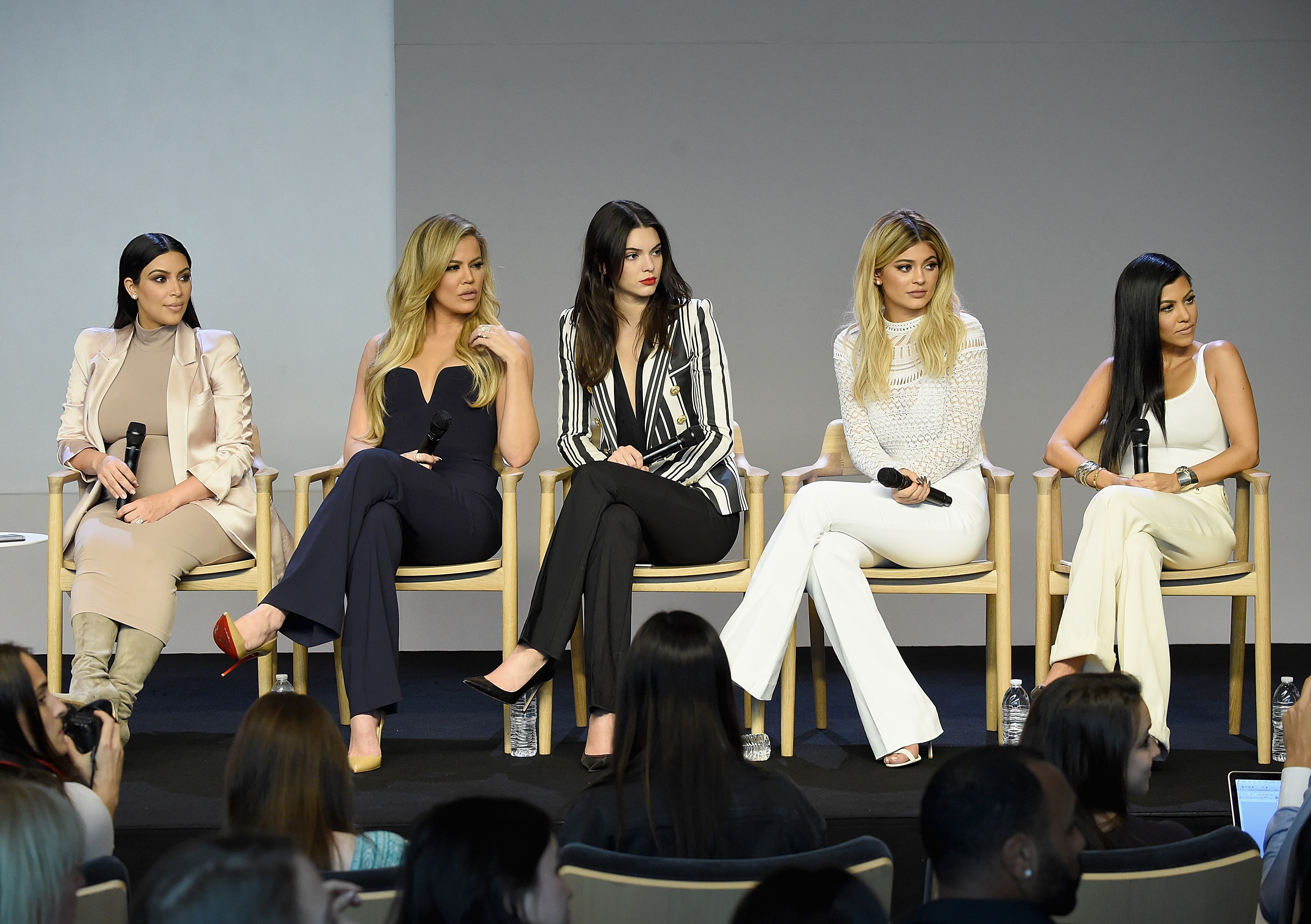 Kim Kardashian, Khloé Kardashian , Kendall Jenner, Kylie Jenner and Kourtney Kardashian attend Apple Store Soho Presents Meet The Developers at Apple Store Soho on September 14, 2015 in New York City.