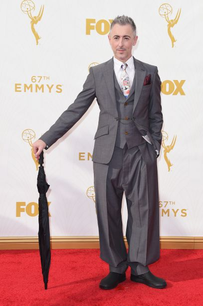 Actor Alan Cumming walked the red carpet at the 67th Annual Primetime Emmy Awards wearing Crocs.