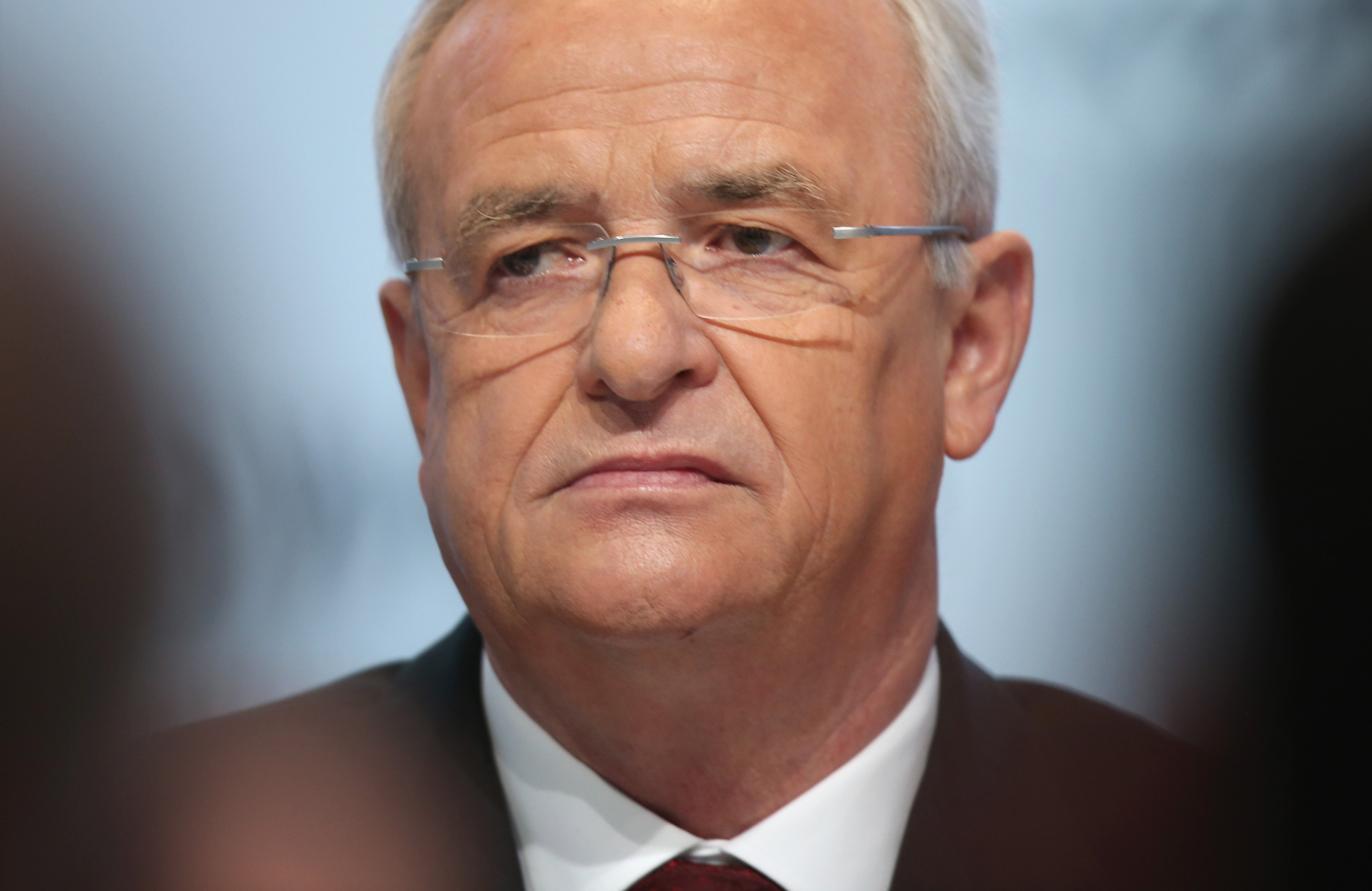 In this file photo Volkswagen CEO Martin Winterkorn attends the company's annual press conference on March 13, 2014 in Wolfsburg, Germany.