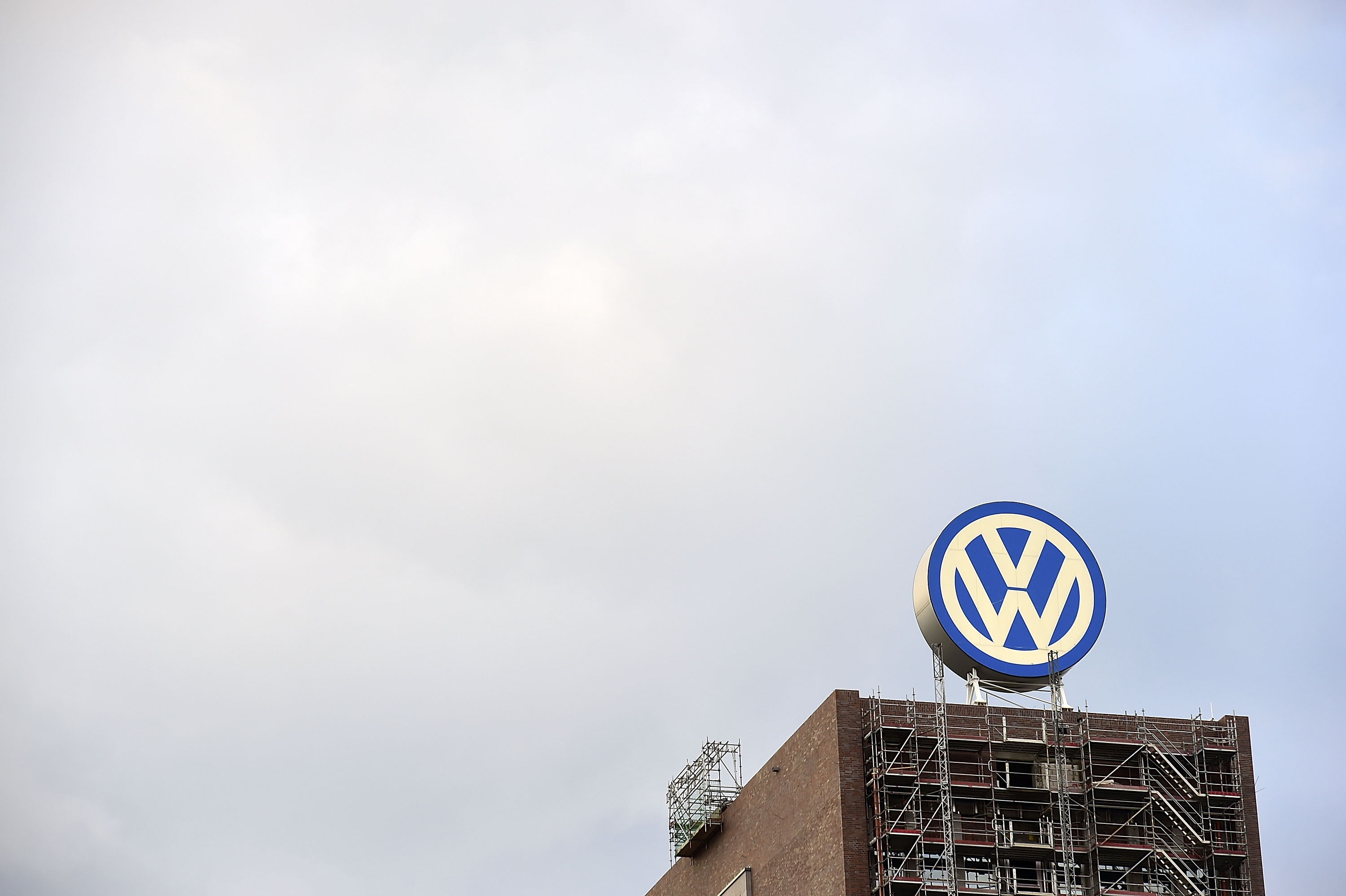 General view of Volkswagen Group headquarters during sunset in Wolfsburg, Germany, on Sept. 23, 2015.
