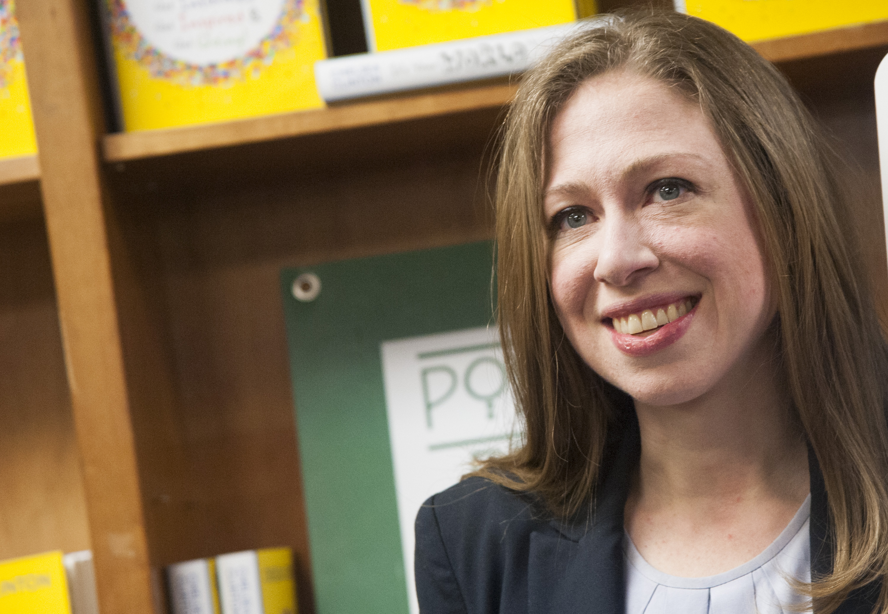 Chelsea Clinton Signs Copies Of Her New Book  It's Your World  at Politics & Prose Bookstore on Sept. 24, 2015 in Washington, DC.