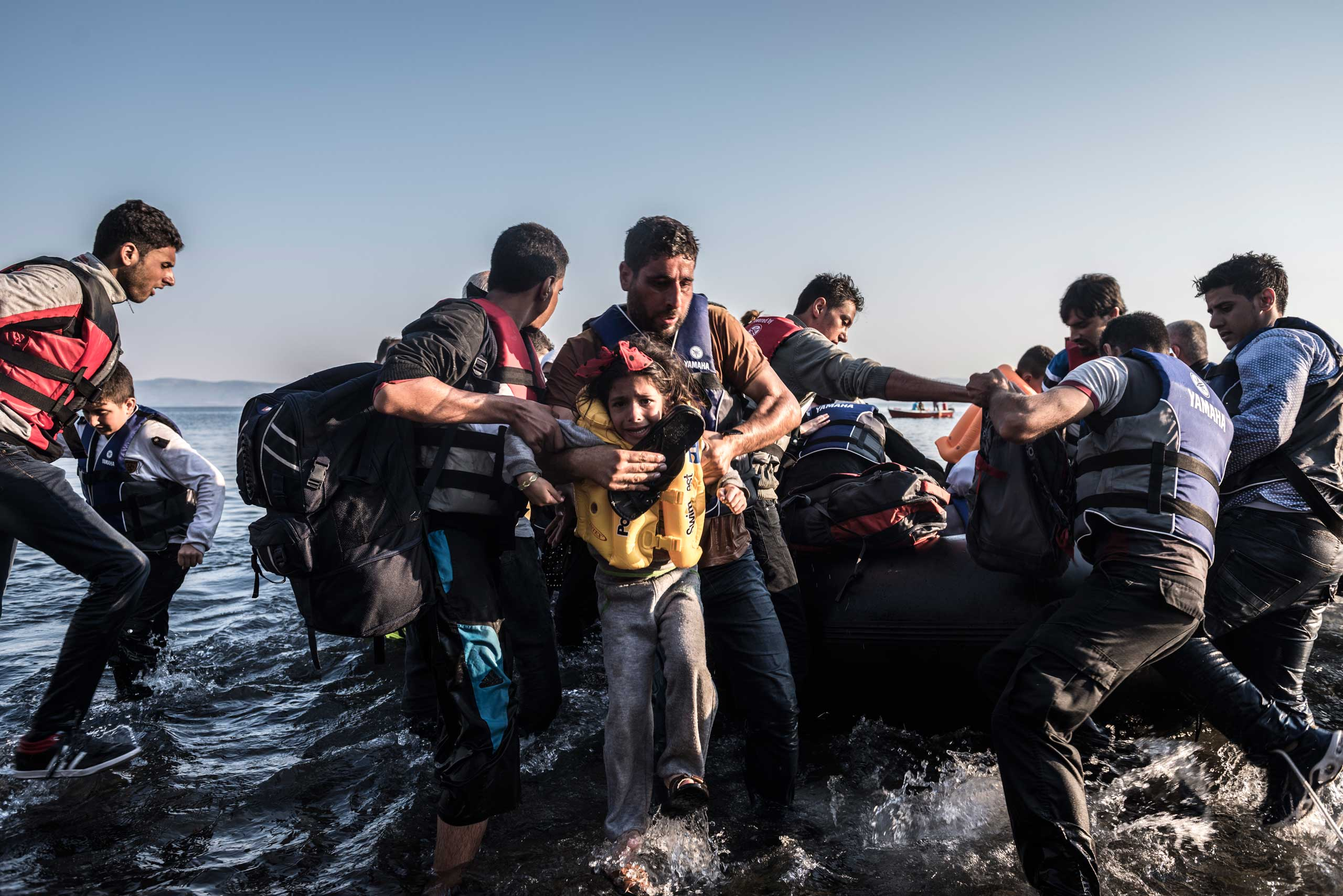 The New York Times: On Island of Lesbos, a Microcosm of Greece's Other Crisis: MigrantsPeople land in Lesbos, Greece, on July, 27, 2015.