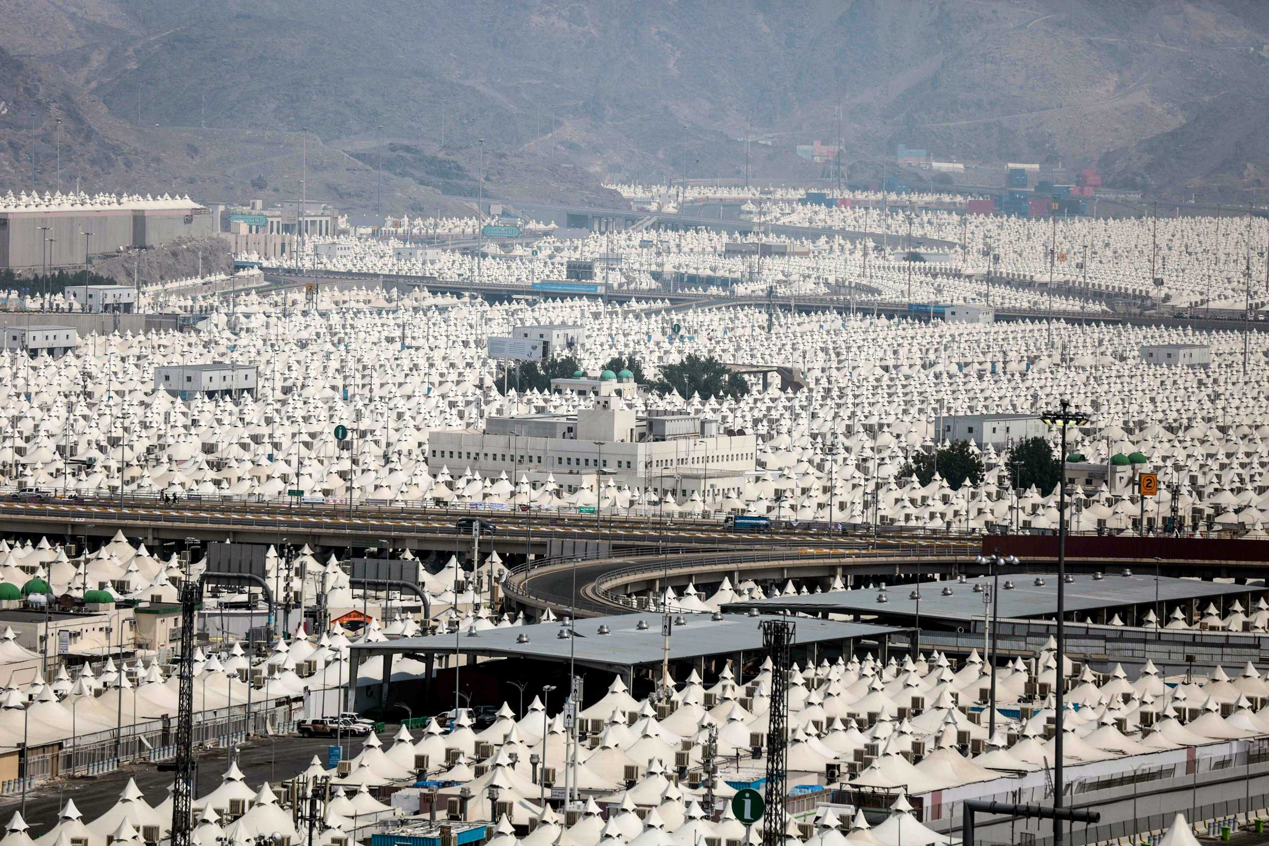 Thousands of tents are prepared to host millions of Muslim pilgrims during the annual pilgrimage, known as the Hajj, in Mina, on the outskirts of the holy city of Mecca,  on Sept. 19, 2015.