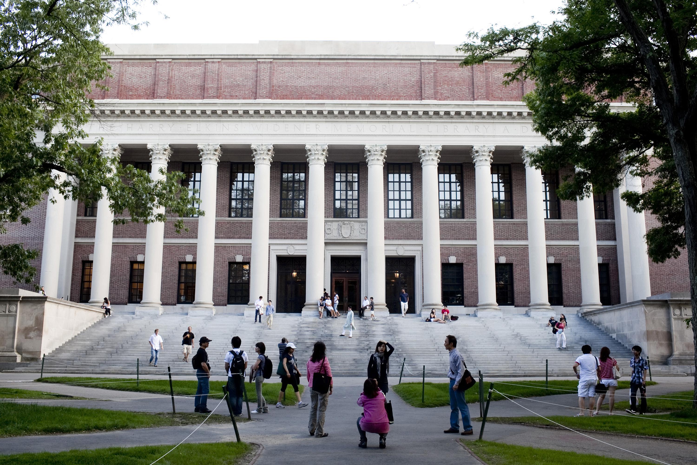 The Harry Elkins Widener library on the campus of Harvard University in Cambridge, Massachusetts, June 21, 2011.