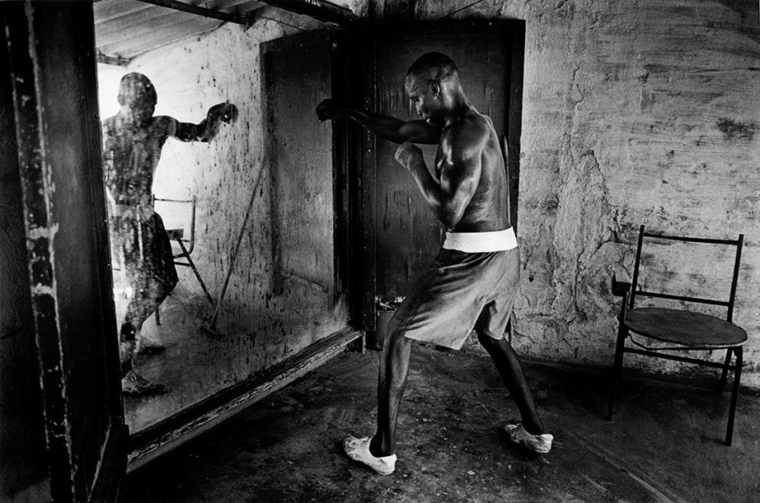 Shadow boxing in Rafael Trejo facility, November 2004.