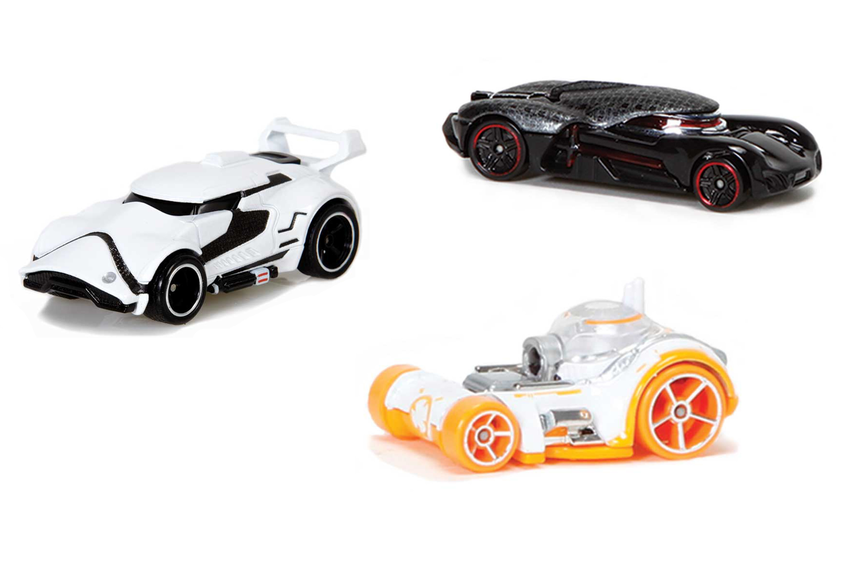 <b>Hot Wheels<i>Star Wars The Force Awakens<i>Edition</b>; First Order Stormtrooper Vehicle, Kylo Ren Character Car and BB-8 Car