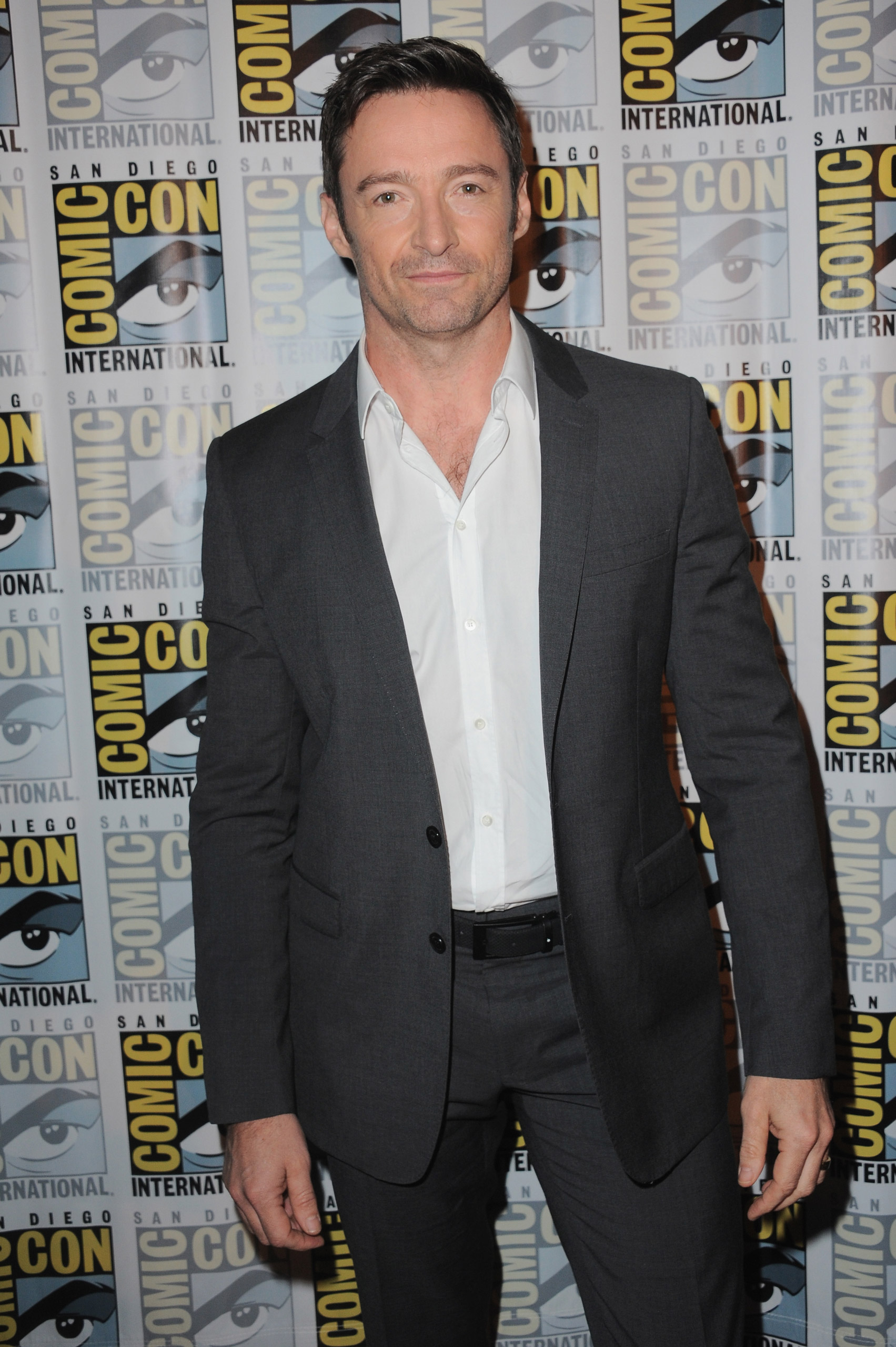 Hugh Jackman attends the Warner Bros. 'Pan' presentation during Comic-Con International 2015 at the San Diego Convention Center in San Diego on July 11, 2015.