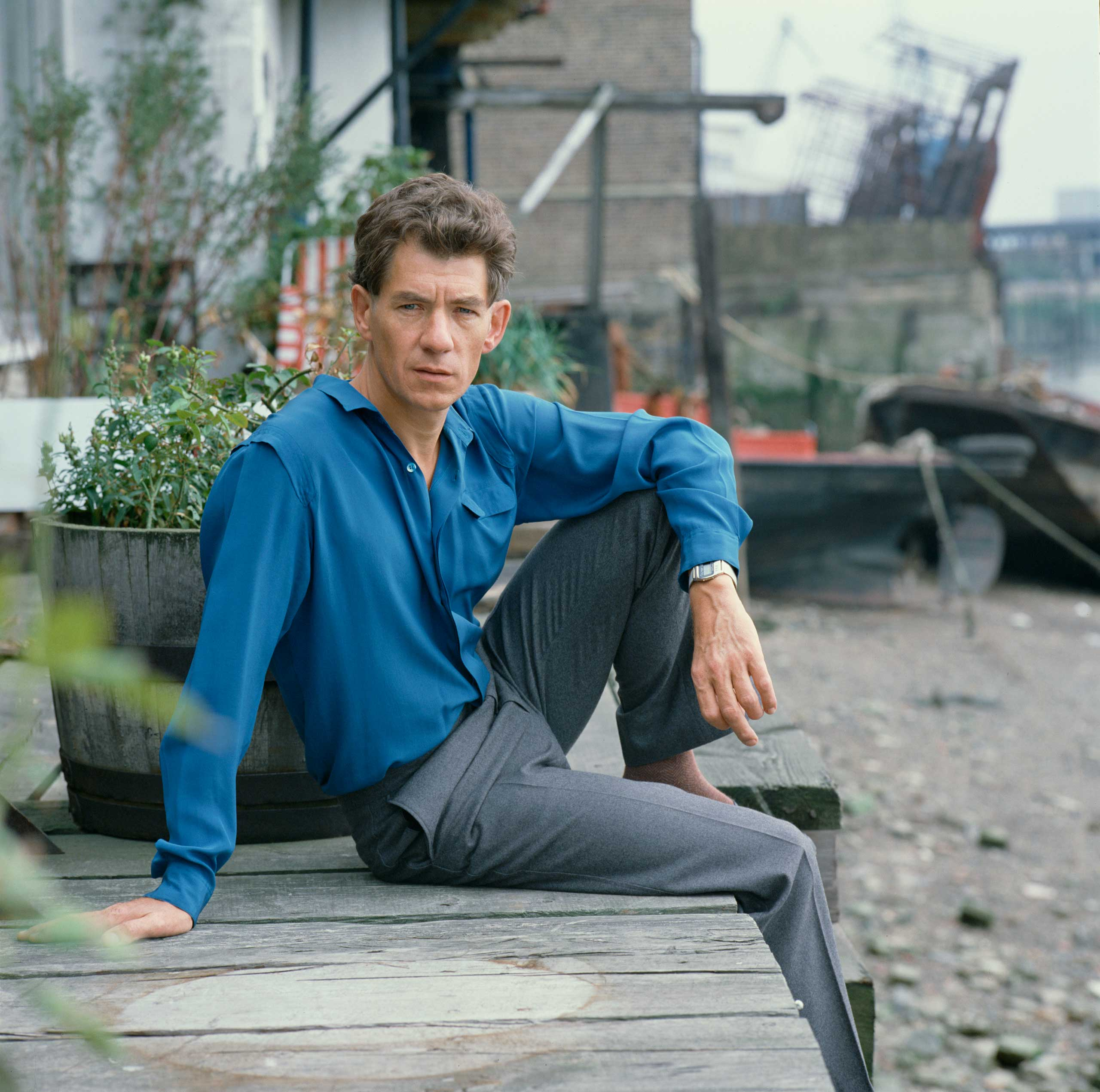 <b>Ian McKellen</b>Photographed for TV Times in 1982, at his London riverside home.