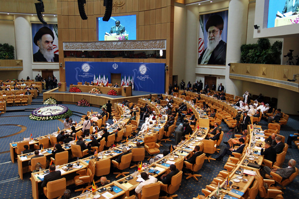 Delegates attend the last day of the Non-Aligned Movement summit in Tehran on Aug. 31, 2012