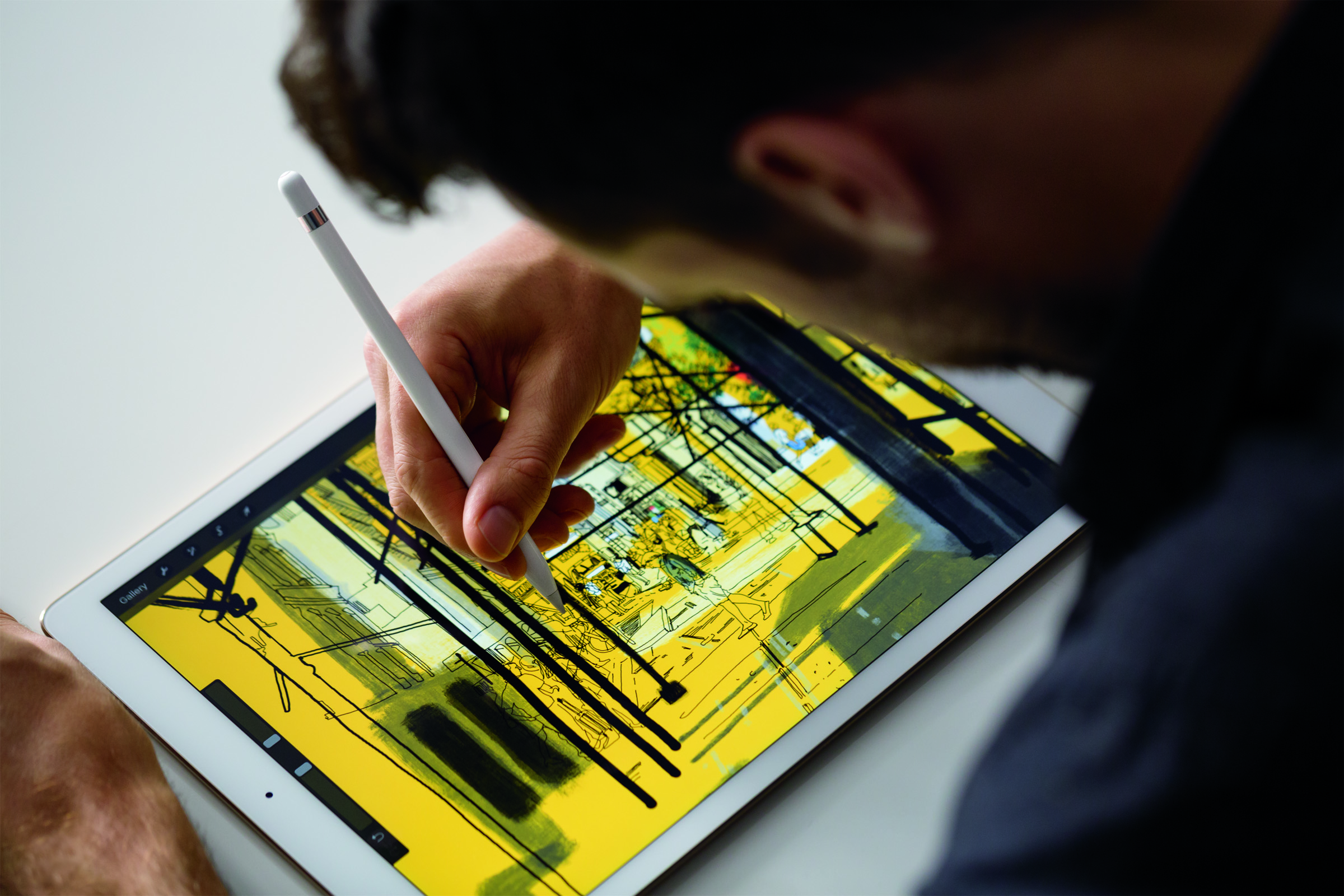 iPad Pro featuring a 12.9-inch Retina Display and Apple Pencil