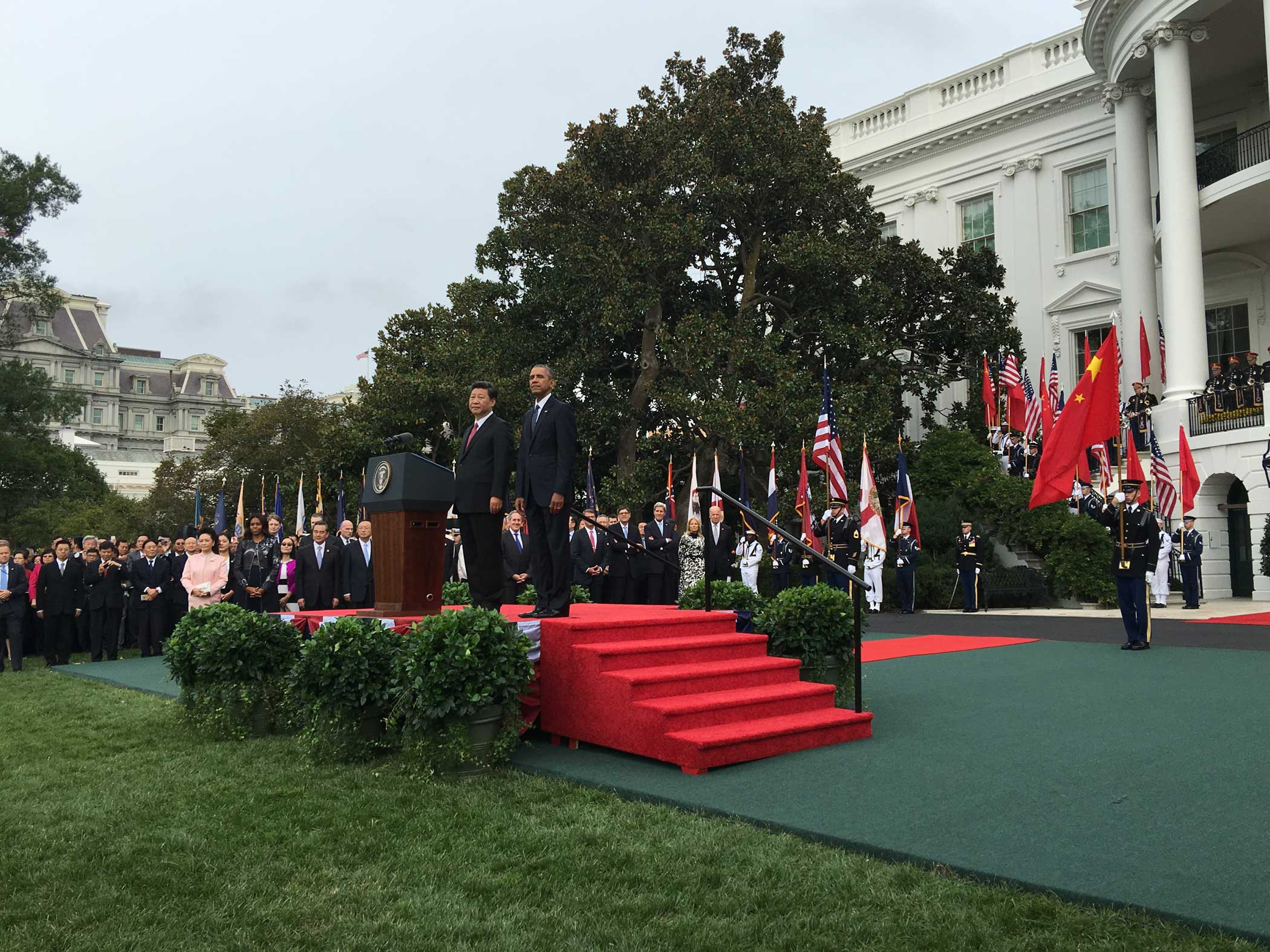 Chinese President Xi Jinping at the start of his state visit to the U.S. Sept. 25, 2015.