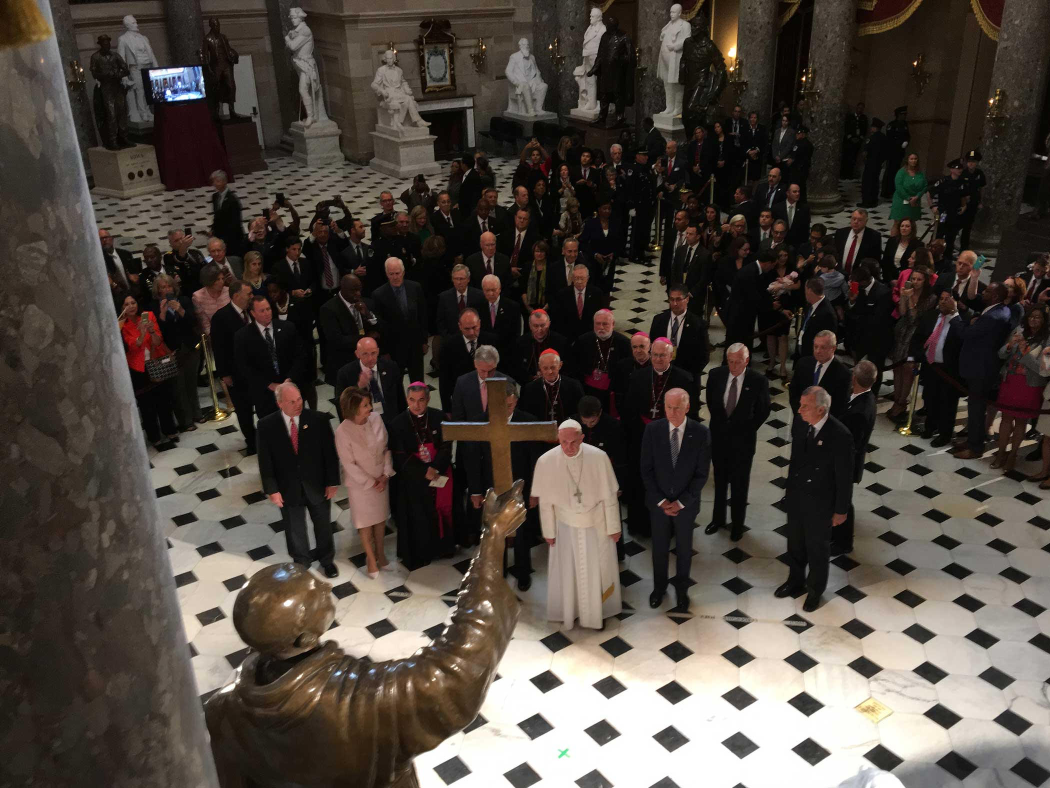 Pope Francis at the Capitol in Washington D.C., Sept. 24, 2015.