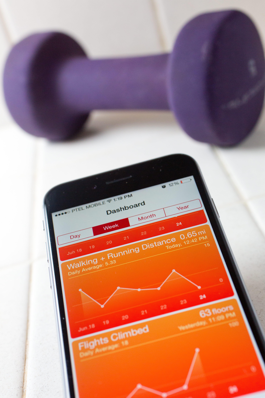 Display of Apple's iPhone Health app.
