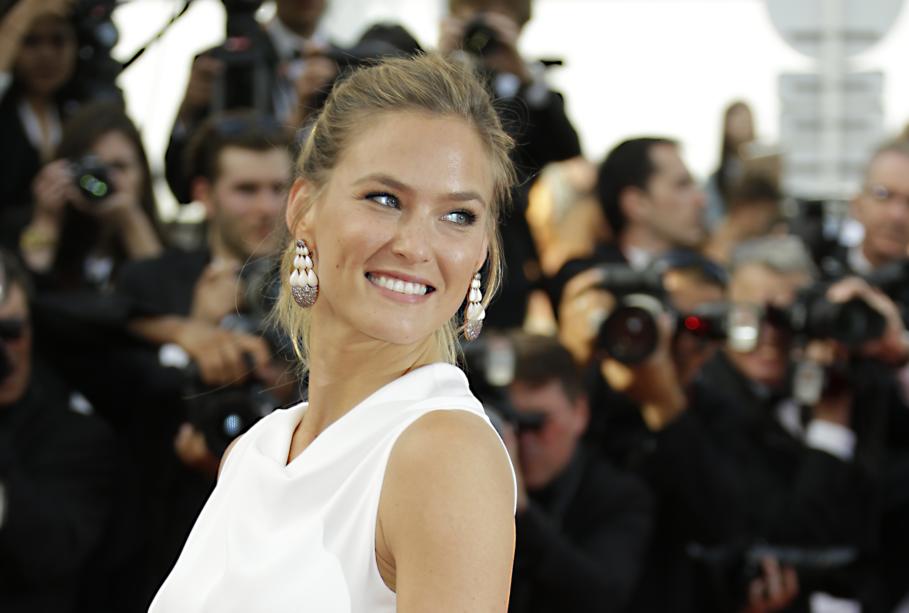 In this May 13, 2015 file photo, Bar Refaeli arrives for the opening ceremony and the screening of the film La Tete Haute at the 68th international film festival, Cannes, southern France