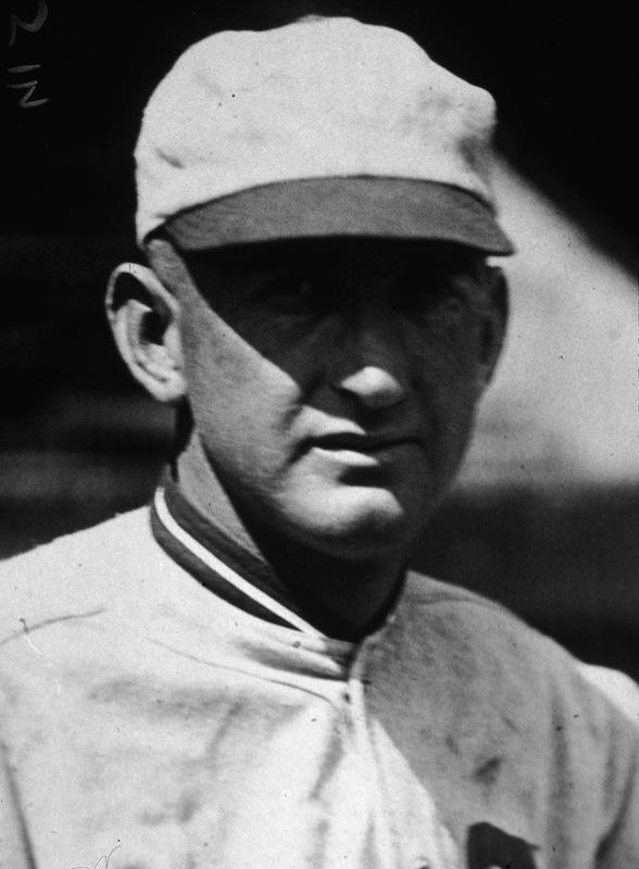 Headshot of American baseball player 'Shoeless' Joe Jackson (1889 - 1951) in his Chicago White Sox uniform, 1919