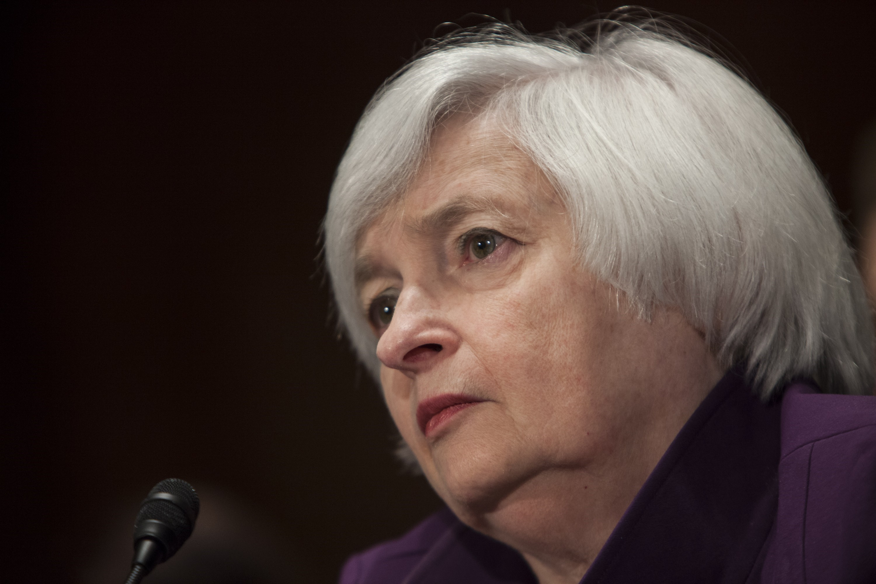 Janet Yellen testifies before the Senate Banking, Housing, and Urban Affairs Committee in Washington on July 16, 2015.