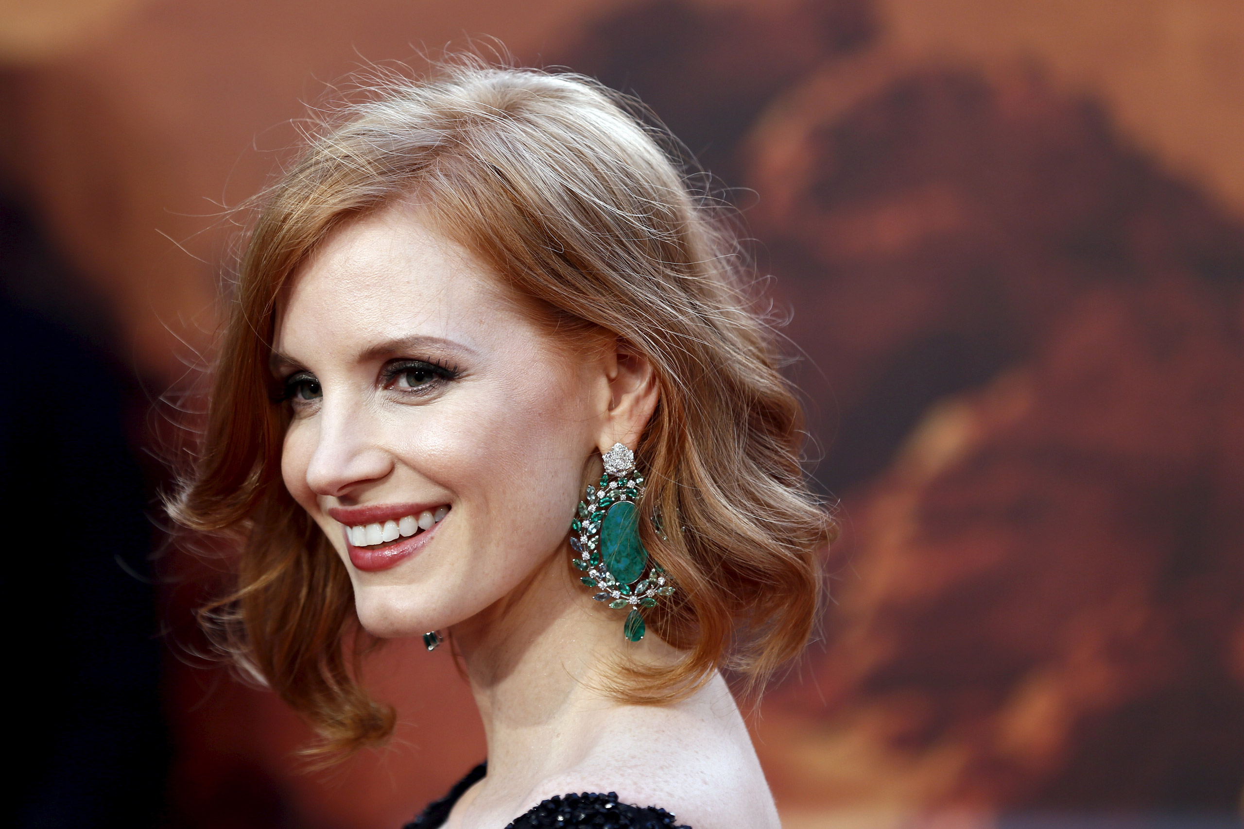Jessica Chastain arrives for the UK premiere of  The Martian  at Leicester Square in London on Sept. 24, 2015.