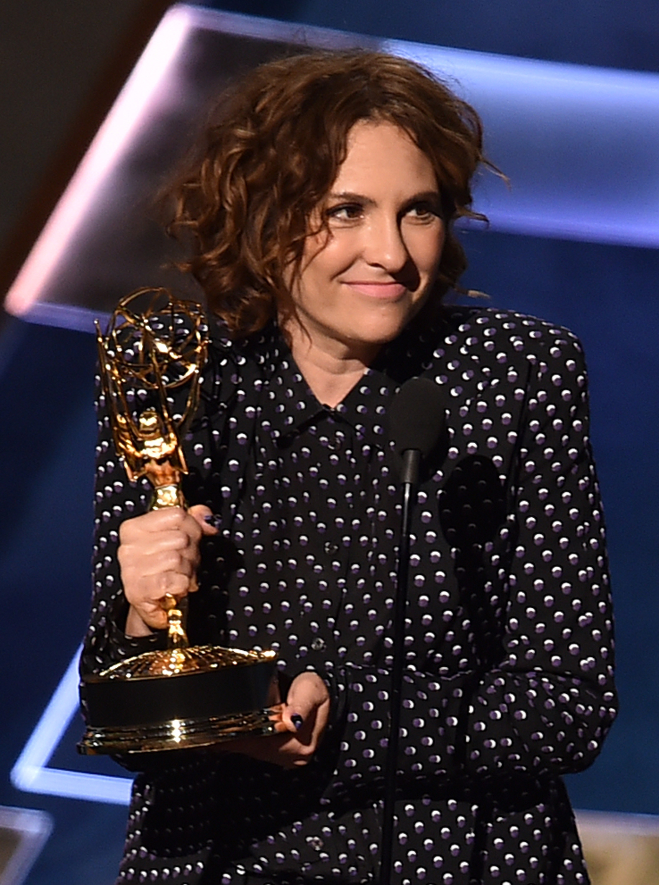 Jill Soloway accepts Outstanding Directing for a Comedy Series award for Transparent onstage during the 67th Annual Primetime Emmy Awards at Microsoft Theater on Sept. 20, 2015 in Los Angeles.