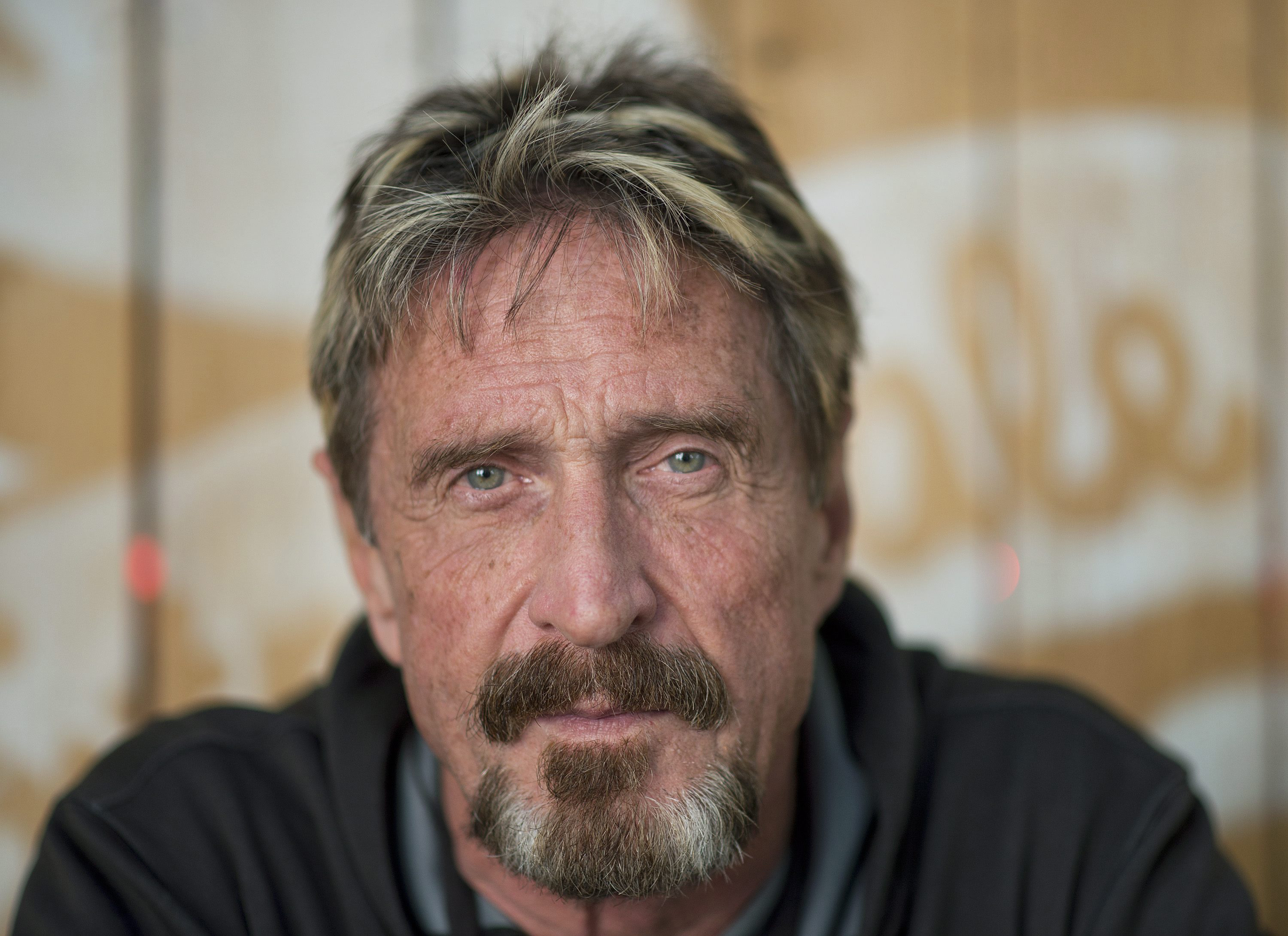 Antivirus pioneer John McAfee poses for a photograph in Montreal on Aug. 24, 2013.