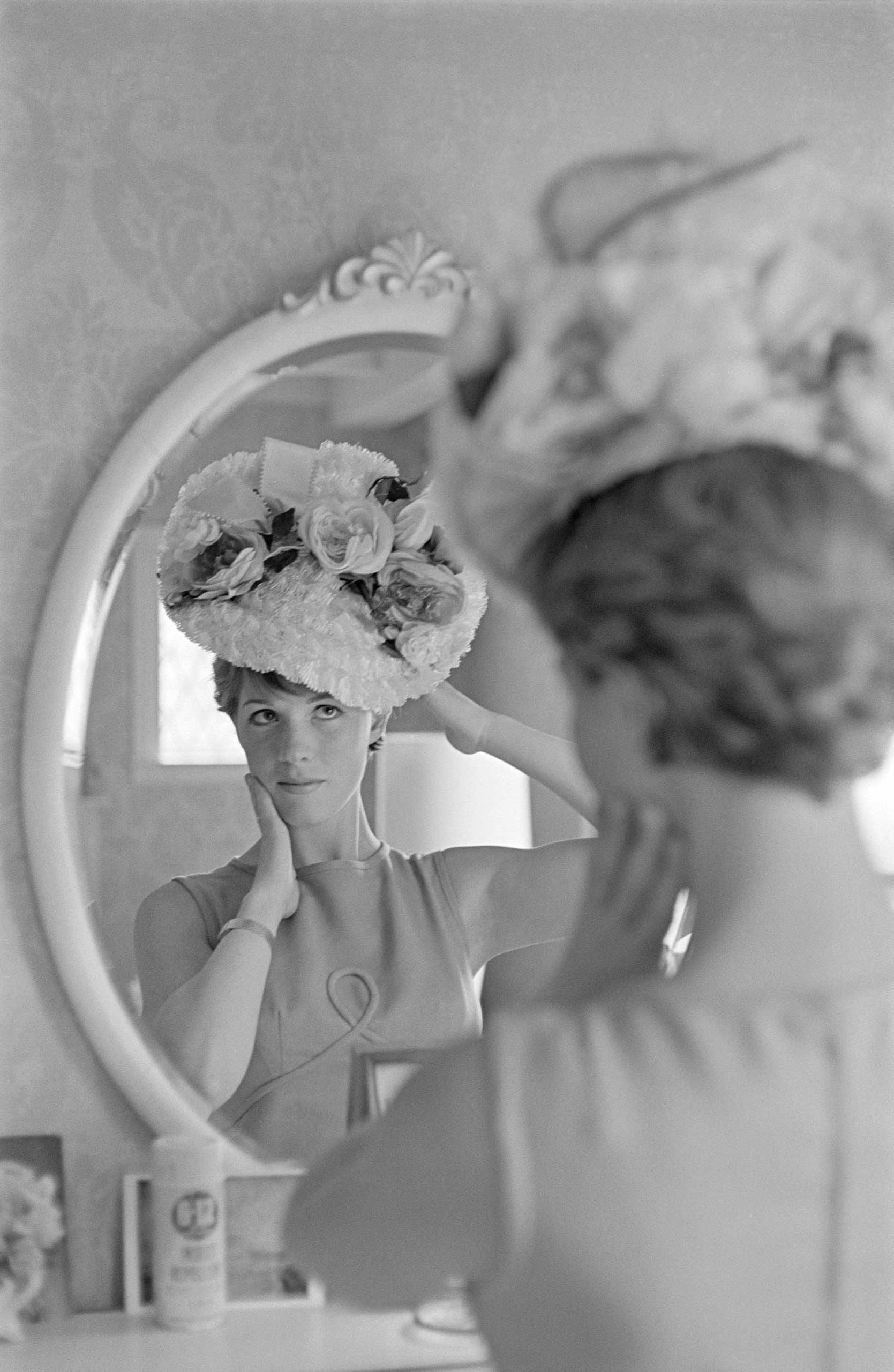 <b>Julie Andrews</b>Photographed for TV Times in 1977.                                   If you want to get ahead, get a hat, as the English rose demonstrated in the stage version of <i>My Fair Lady</i> and then on screen in <i>Mary Poppins</i>. Here, she was reflecting on her image after raiding a dressing-up box for this fancy titfer.