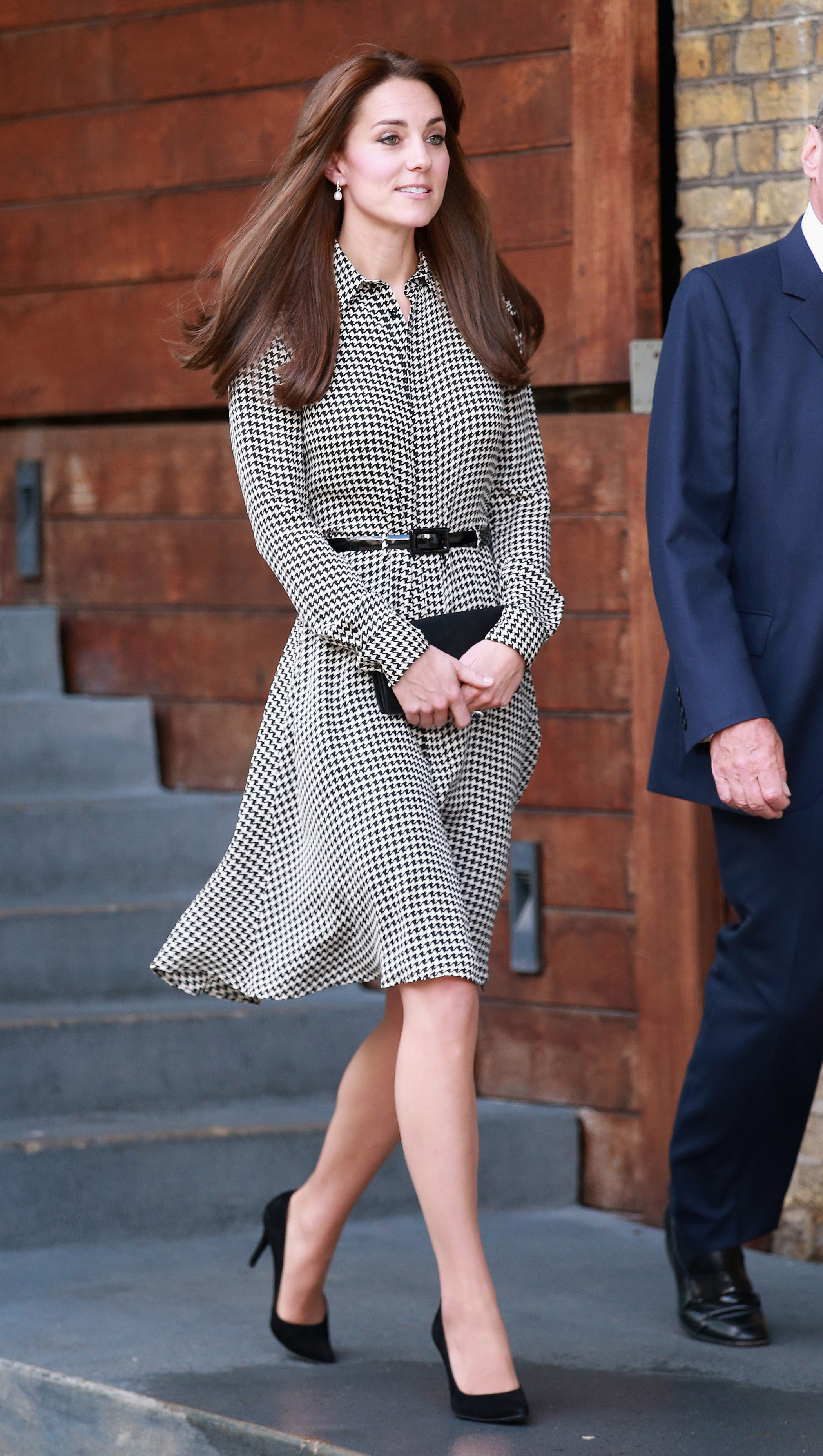 Britain's Kate Duchess of Cambridge during to her  visit to the Anna Freud Centre on Sept. 17, 2015 in London.