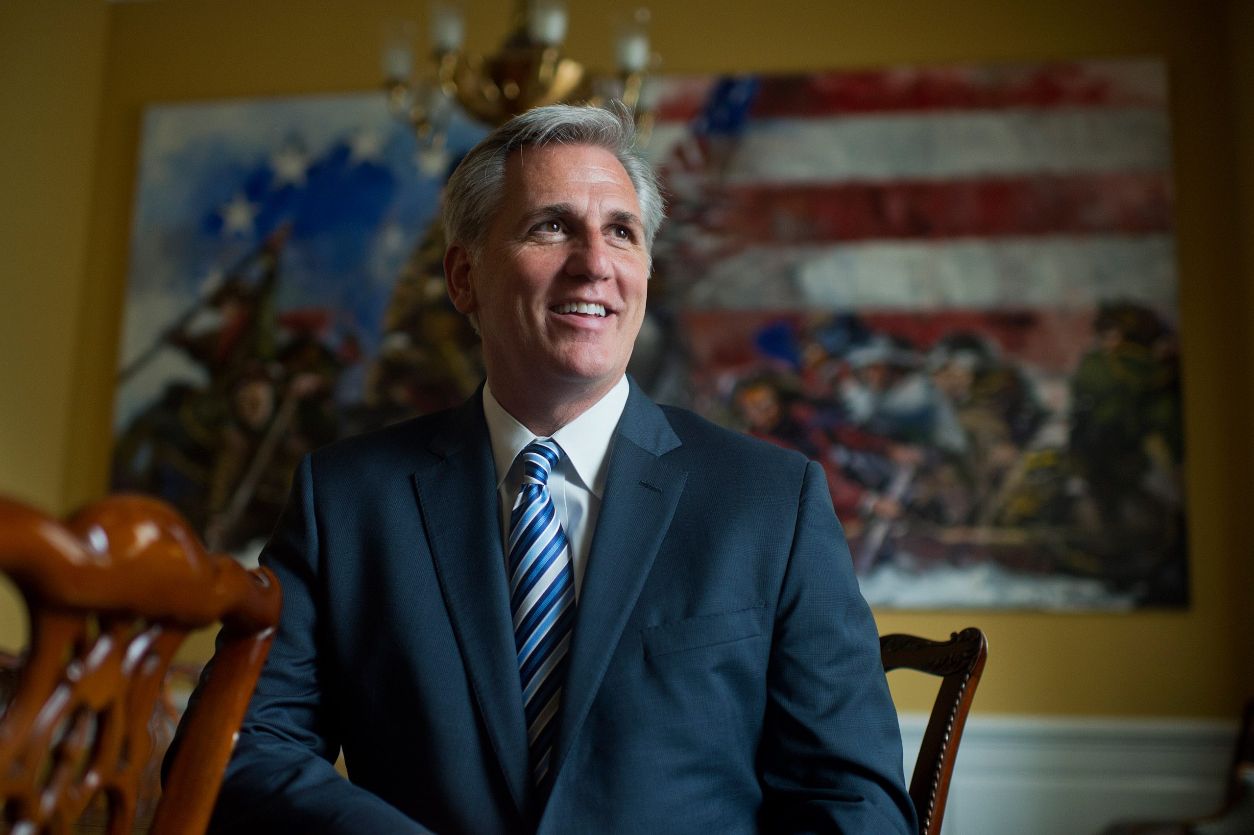 House Majority Leader Kevin McCarthy in his Capitol office in Washington on June 4, 2015.