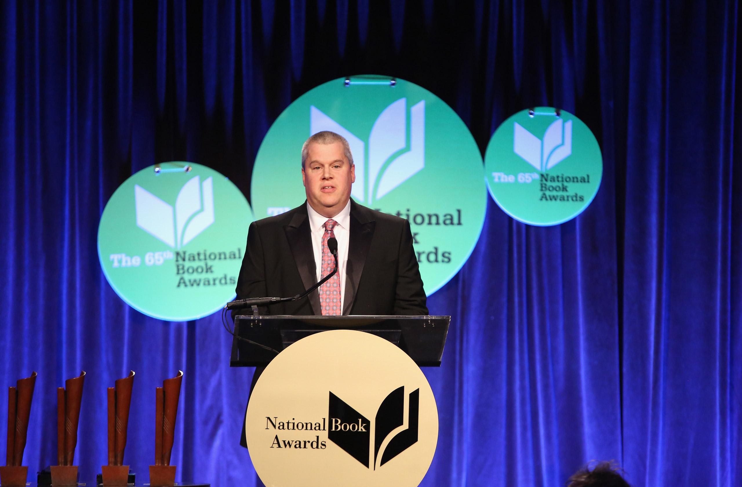 Daniel Handler attends the 2014 National Book Awards ceremony in New York on Nov. 19, 2014.