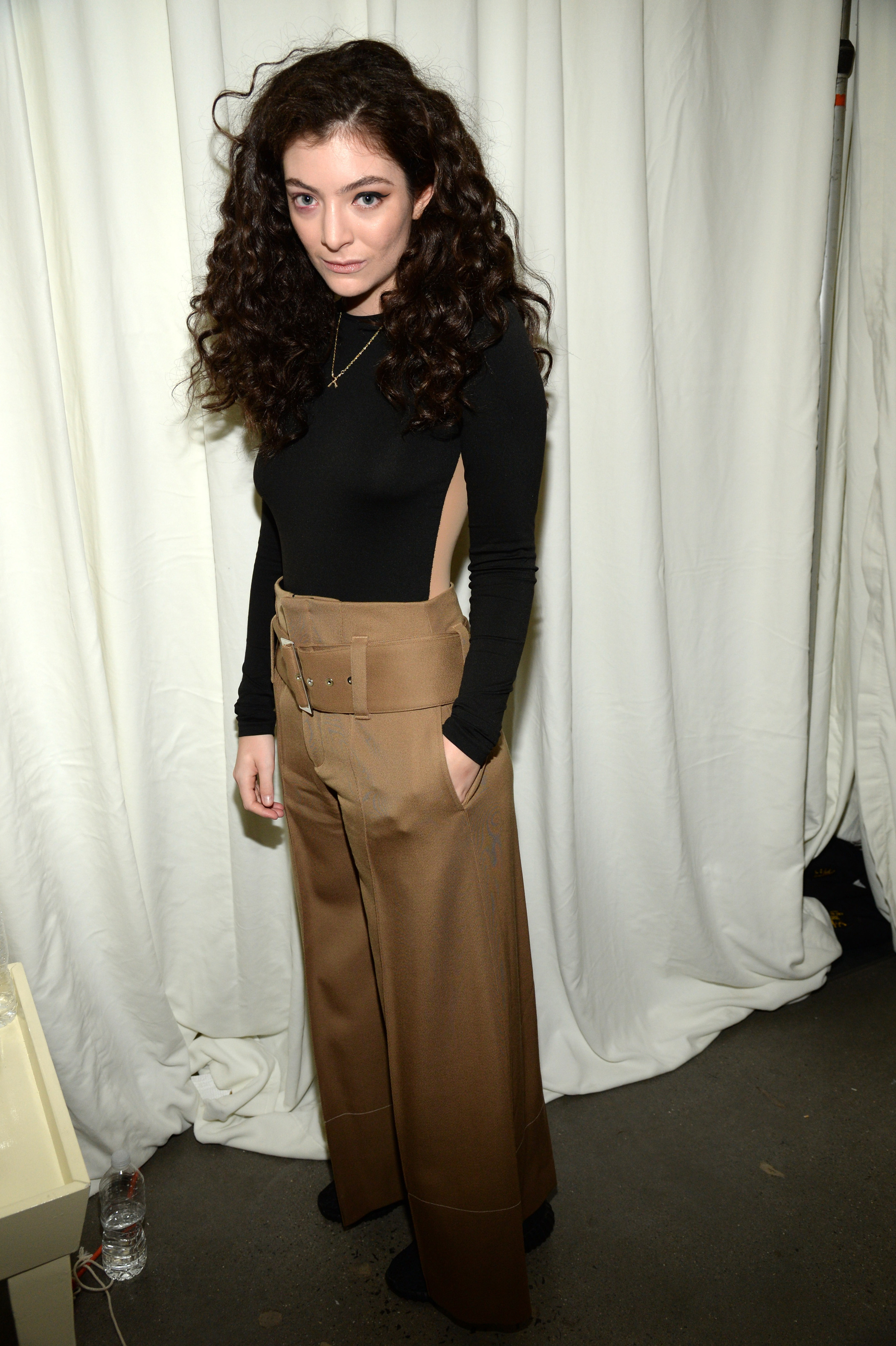 Lorde attends Kanye West Yeezy Season 2 during New York Fashion Week on Sept. 16, 2015 in New York City.