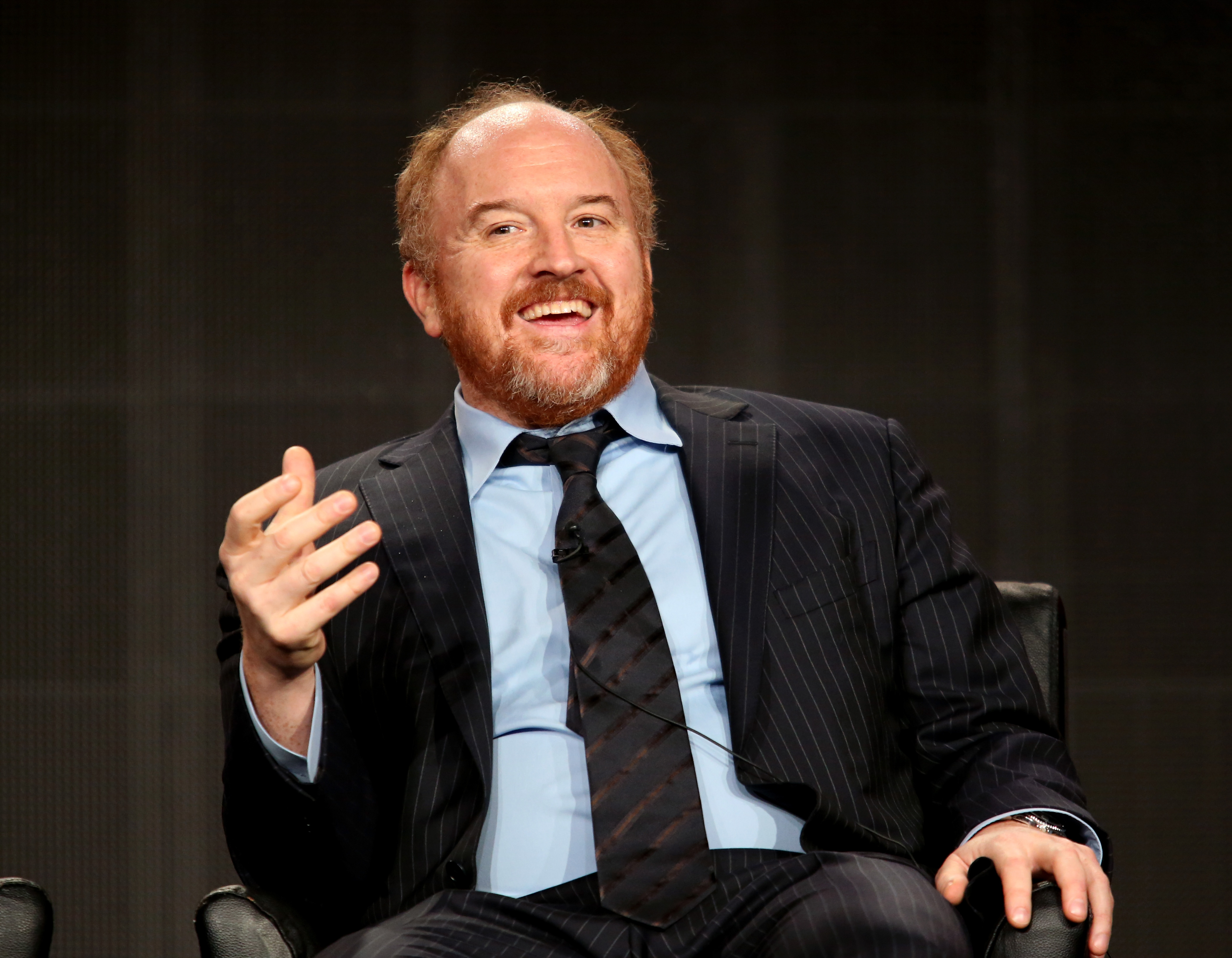 Louis C.K. at the 'Louie' panel discussion during the Television Critics Association press tour in Pasadena, Calif. on Jan. 18, 2015.
