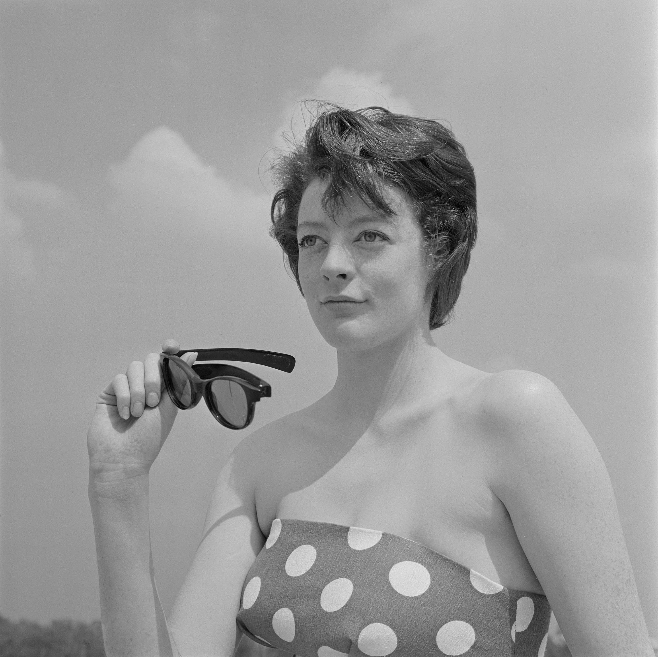 <b>Maggie Smith</b>Photographed for TV Times in 1965.                                   Downton's acerbic Dowager Countess would surely have something to say about her real-life self being photographed on a beach. The following year, Dame Maggie received her first Oscar nomination for playing Desdemona in a film of <i>Othello</i>.