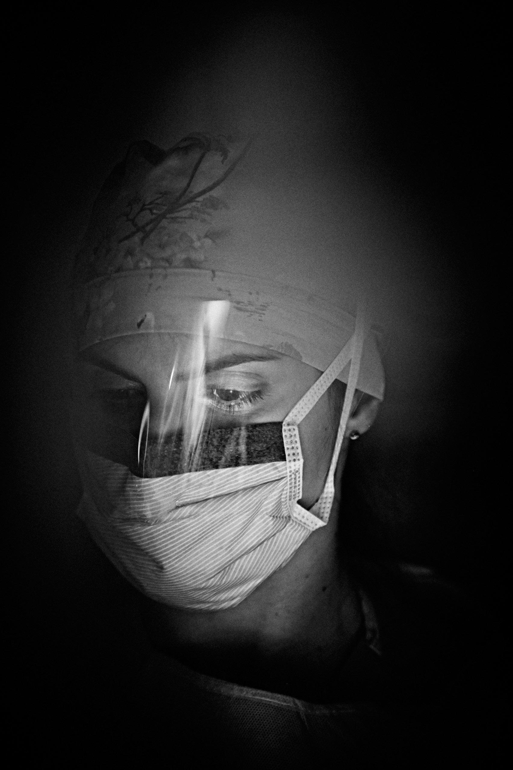 Chief Surgery Resident Dr. Arghavan Salles on rotation at Santa Clara Valley Medical Center in San Jose, California, on March 27, 2015.