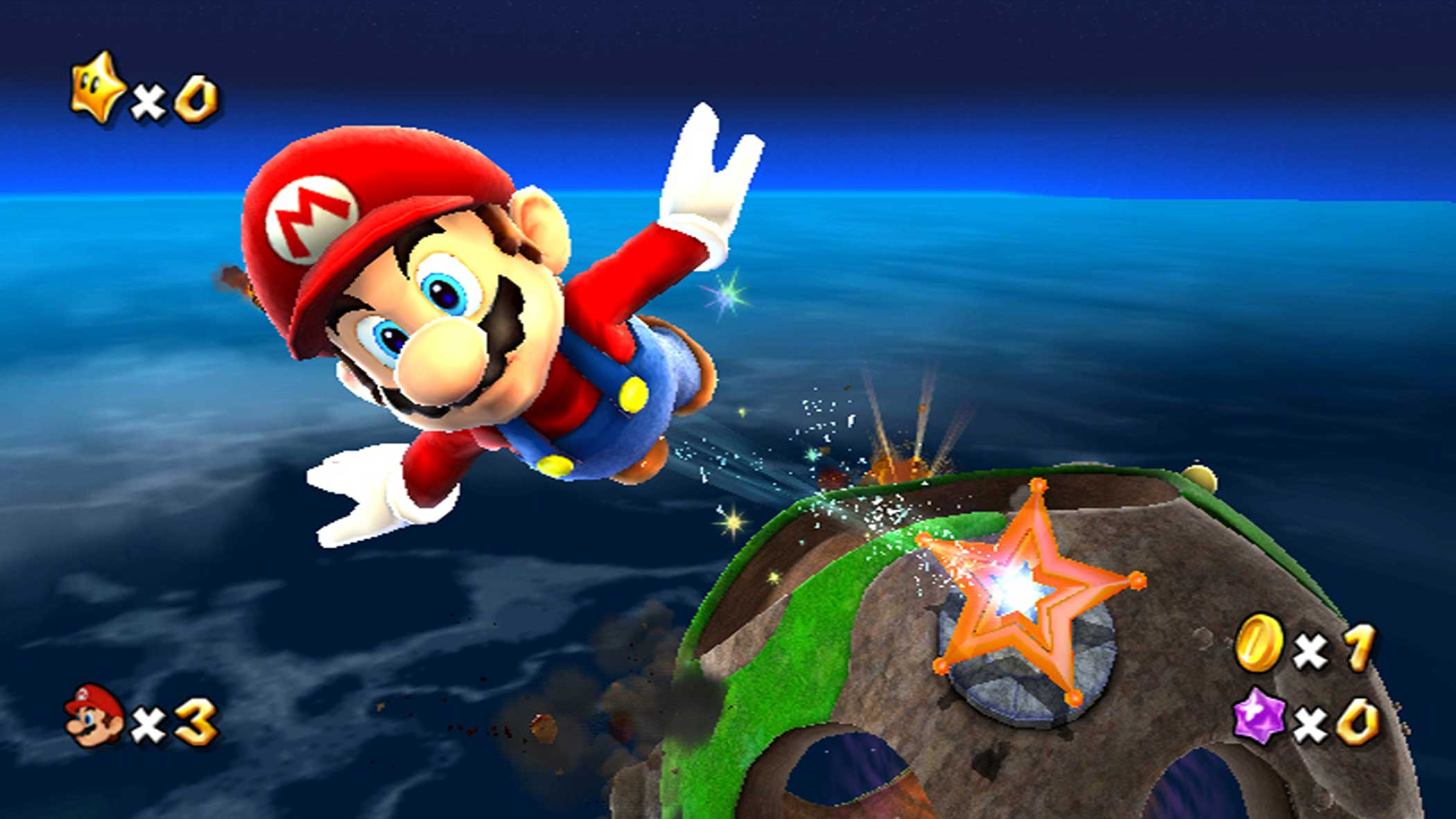 2007: Super Mario Galaxy                                                              Imagine the planetoids in Antoine de Saint-Exupéry's The Little Prince with Super Mario 64's 3D controls meets all sorts of gravitational zaniness, and you get Super Mario Galaxy, Miyamoto protégé Koichi Hayashida's ingenious means of sending Mario on an interstellar romp.