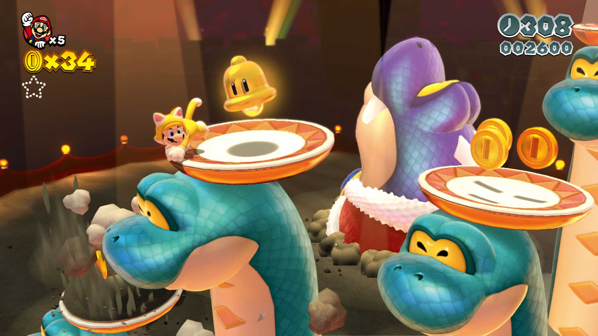 2013: Super Mario 3D World                                                              Extending ideas introduced in Super Mario 3D Land two years earlier, Super Mario 3D World combines 2D and 3D levels with the option to play as Mario, Luigi, Princess Peach and Toad (each with unique abilities, essential to obtain all of the games hidden items).